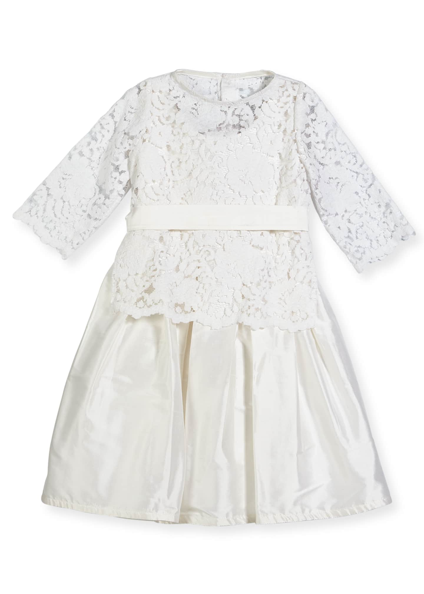 Image 1 of 2: Fable Silk Dress w/ Lace Overlay Top, Size 4-6