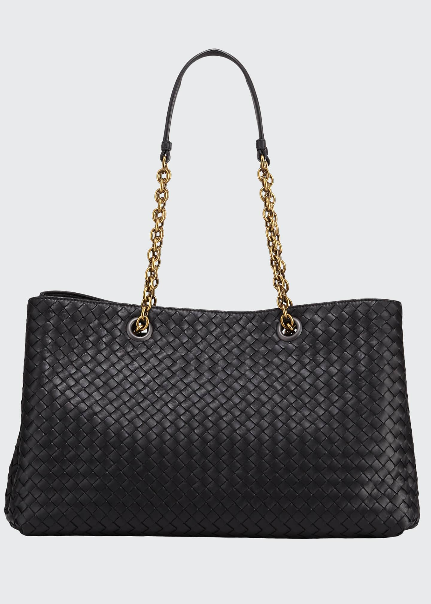 Bottega Veneta Intrecciato Medium Double Chain Tote Bag