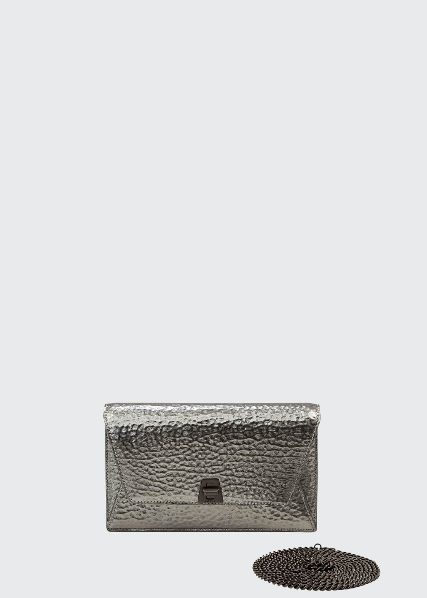Akris Anouk Hammered Leather Envelope Clutch Bag