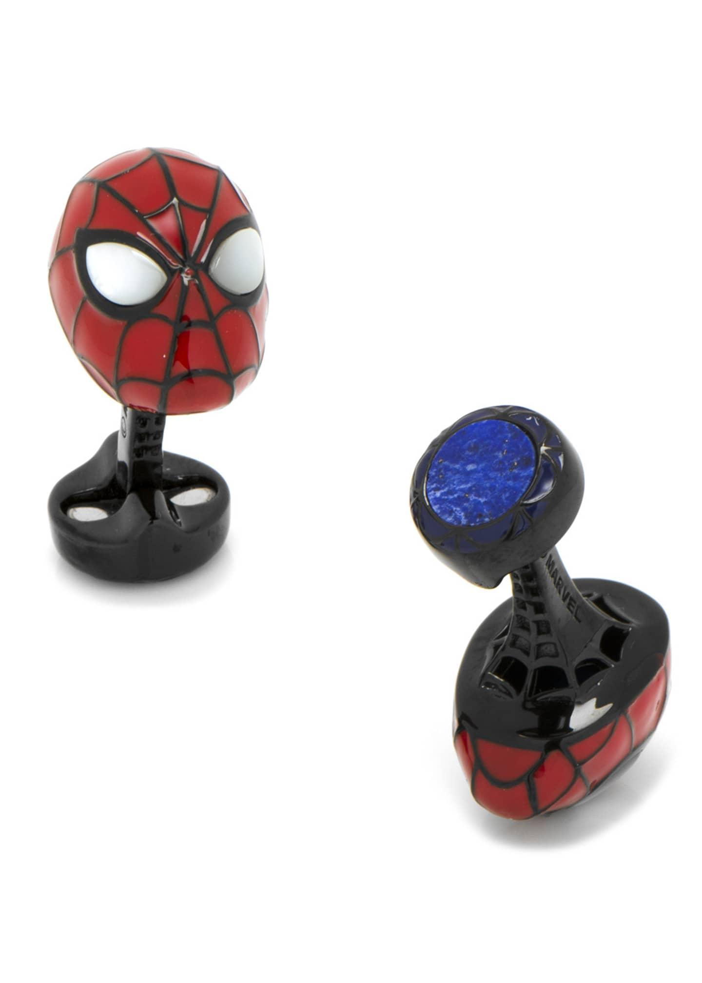 Cufflinks Inc. 3D Spiderman Sterling Silver Cuff Links