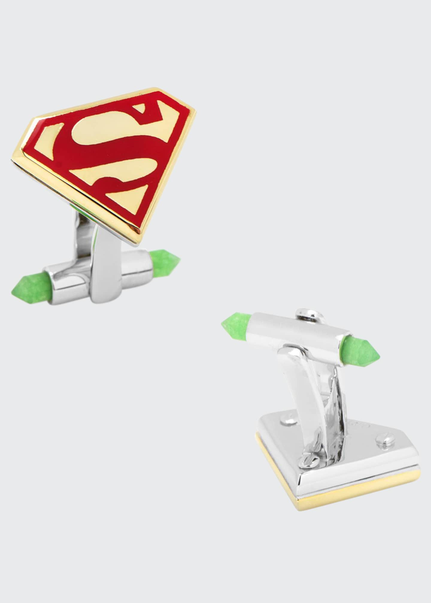 Cufflinks Inc. 3D Gold-Plated Superman Cuff Links