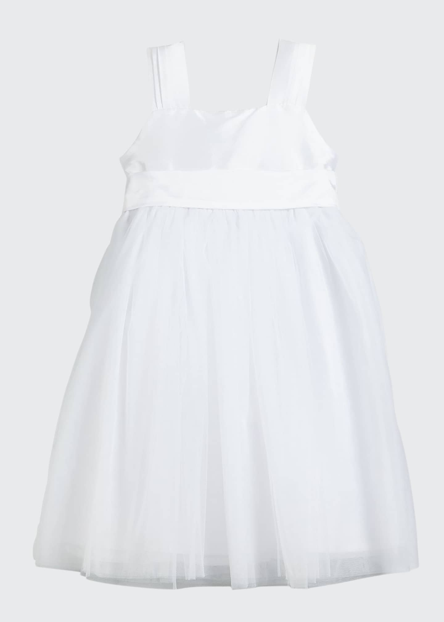 Isabel Garreton Venice Pleated Straps V-Back Dress, White,
