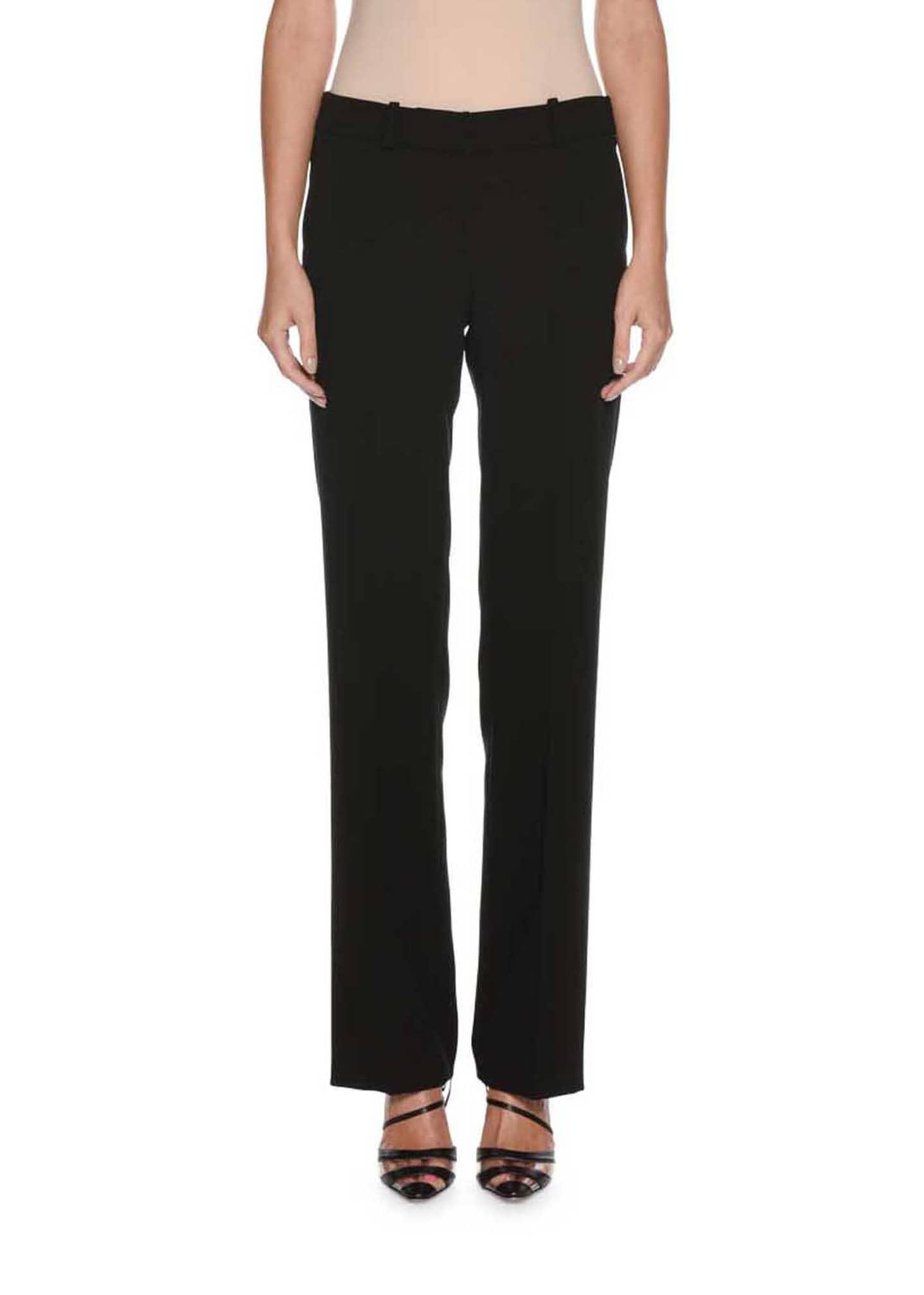 Giorgio Armani Classic Front-Zip Wool Pants