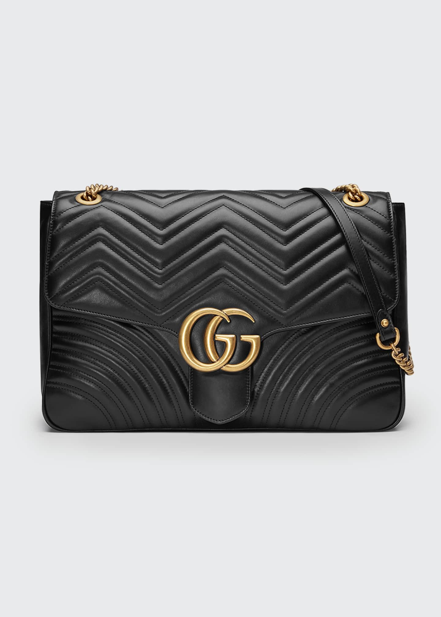 Gucci GG Marmont Large Chevron Quilted Leather Shoulder