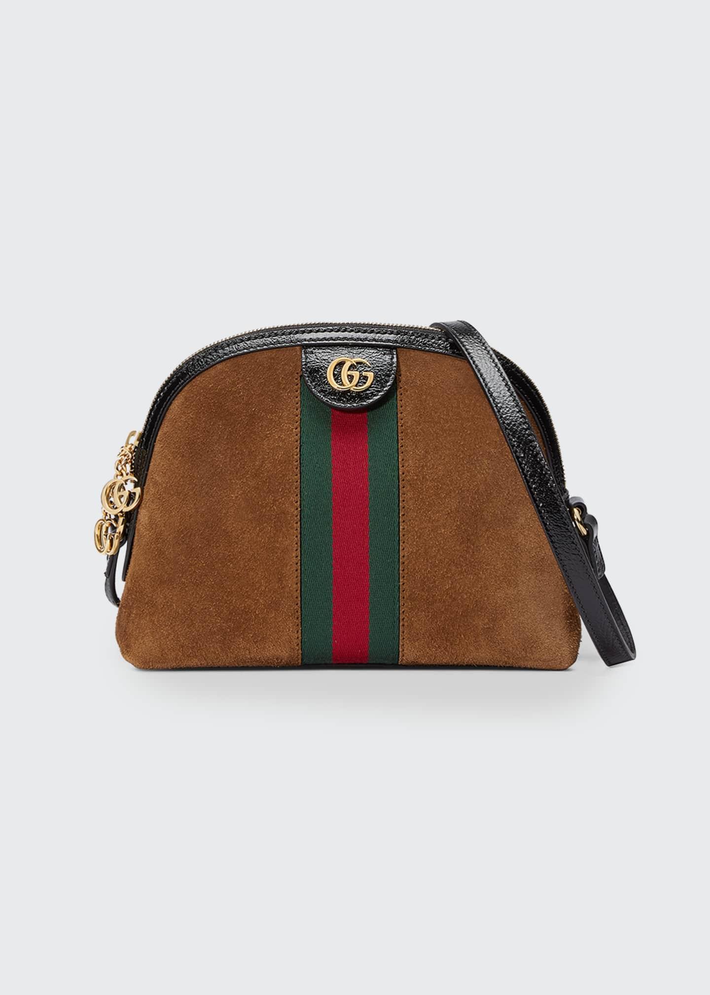 Gucci Linea Dragoni Suede Small Chain Shoulder Bag