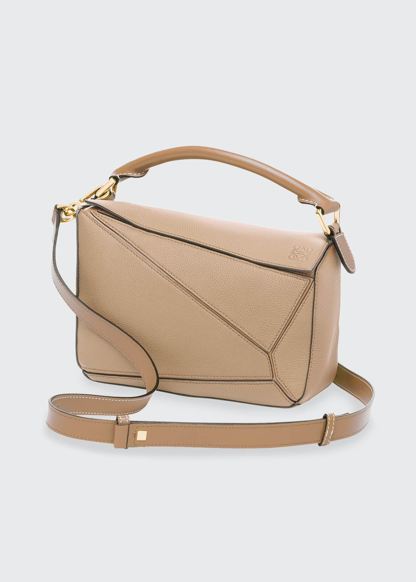 Image 2 of 5: Puzzle Small Leather Satchel Bag