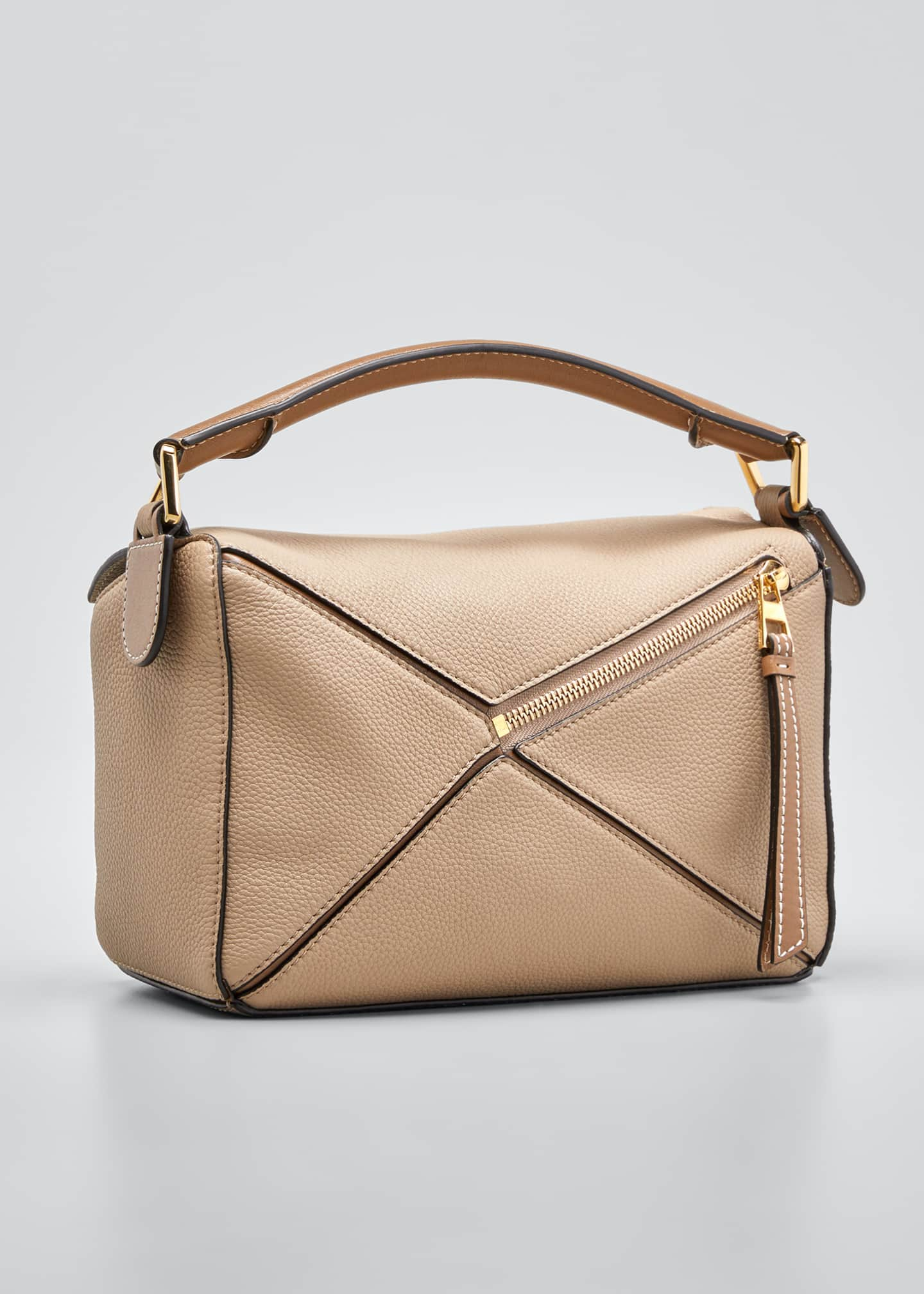 Image 3 of 5: Puzzle Small Leather Satchel Bag