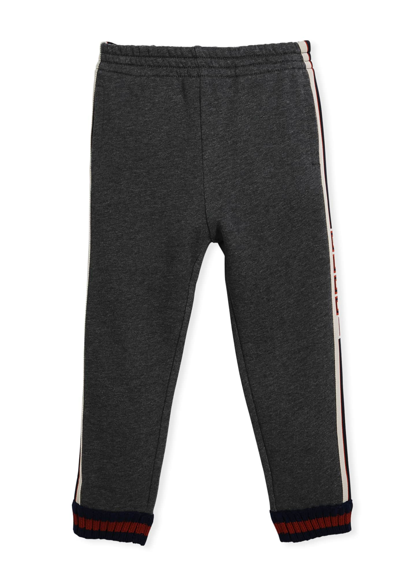 Gucci Logo Jacquard Side Jogger Pants w/ Web
