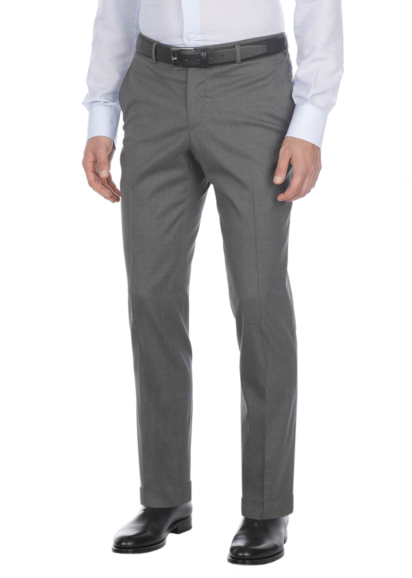 Image 1 of 2: Comfort Wool-Blend Dress Pants