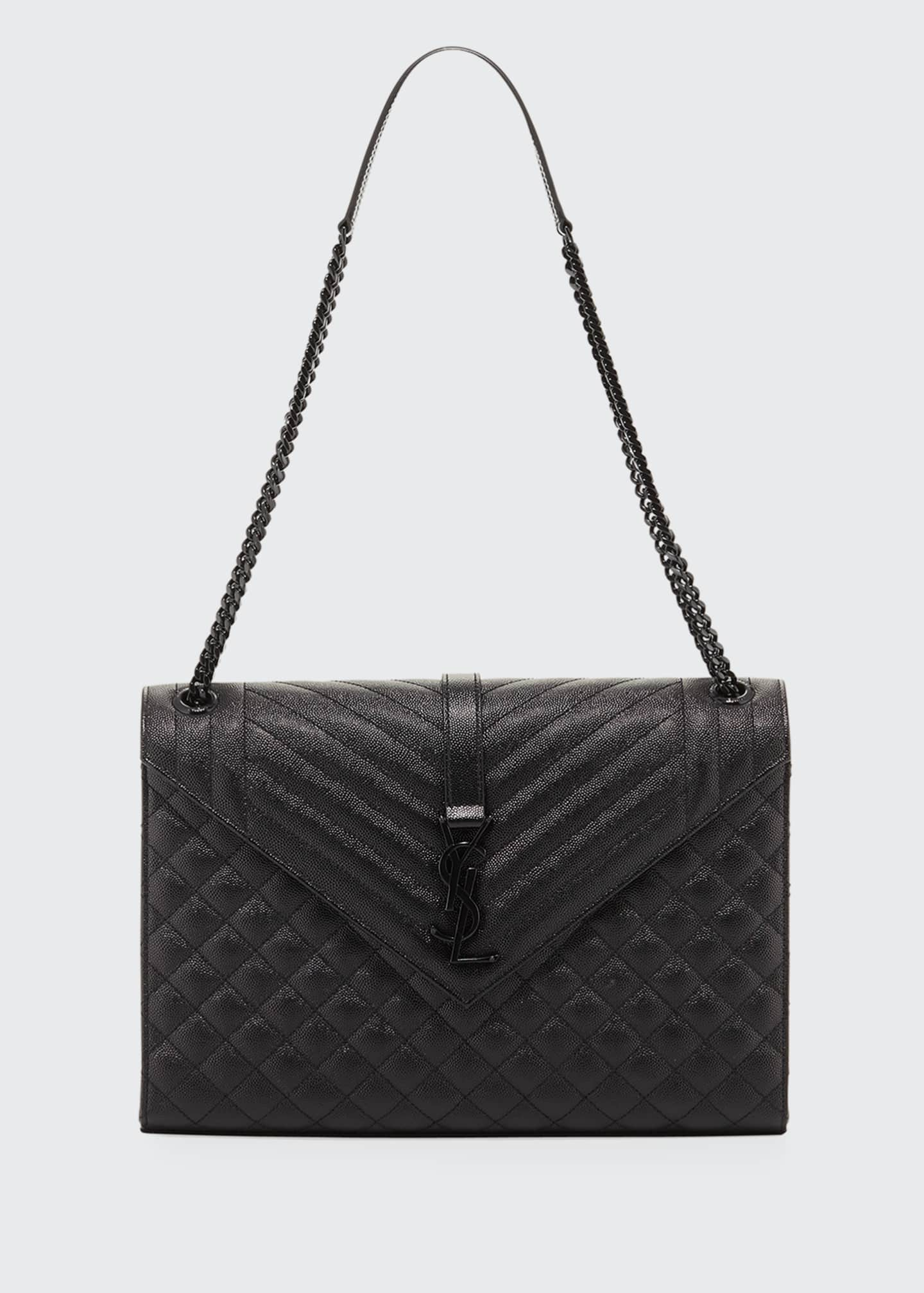 Saint Laurent Large Tri-Quilted Matelasse Grain de Poudre