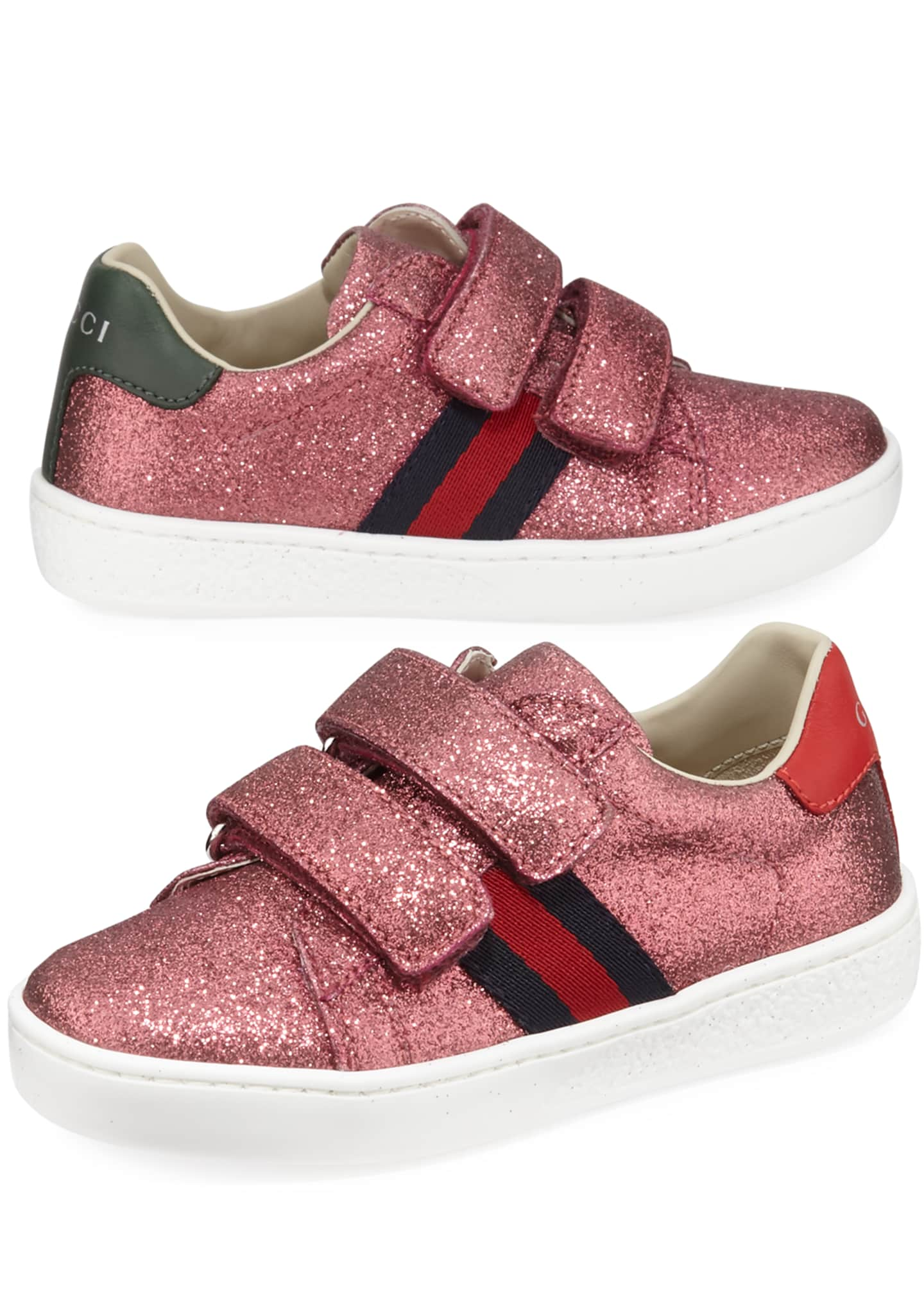 Image 1 of 1: New Ace Web-Trim Glittered Sneakers, Baby/Toddler