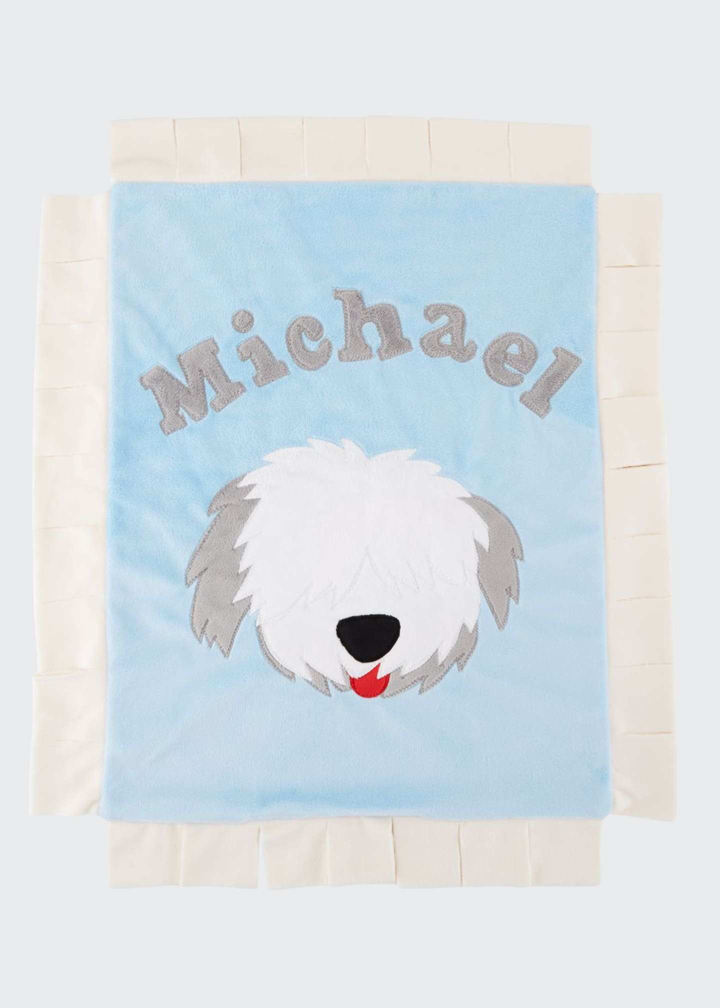 Boogie Baby Personalized Pup Love Plush Lovey, Blue