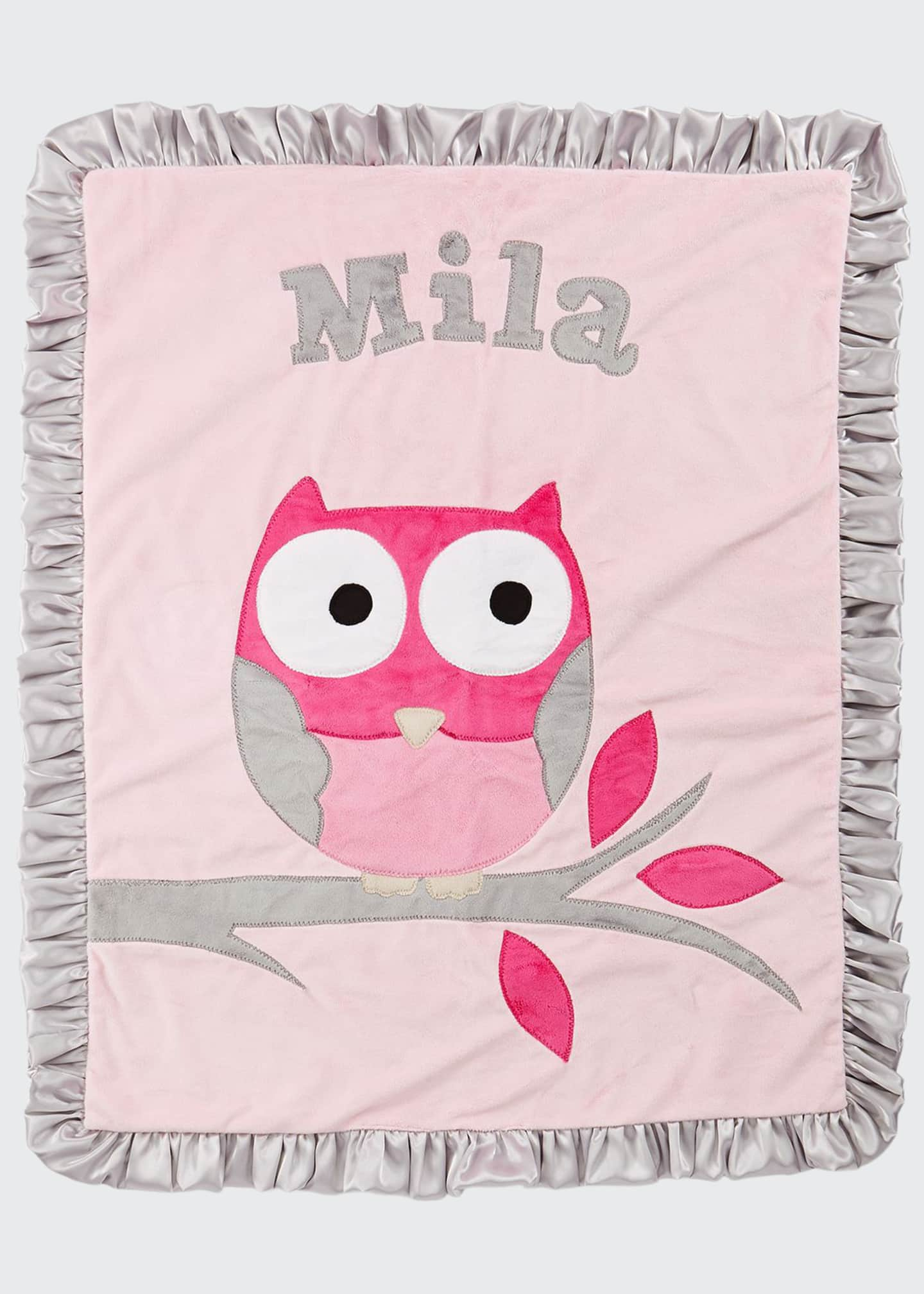 Boogie Baby Personalized It's a Hoot Plush Blanket,