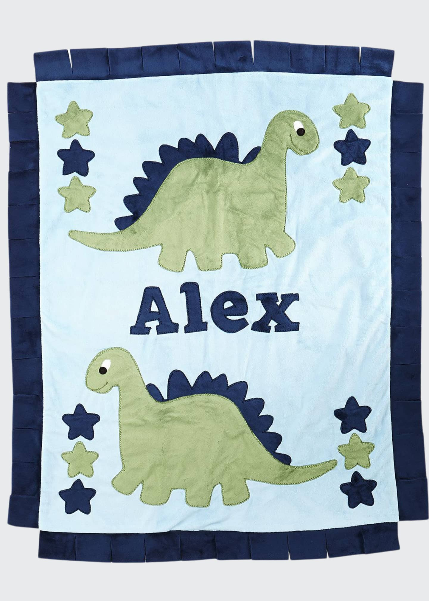 Boogie Baby Personalized Dino the Dinosaur Plush Blanket,