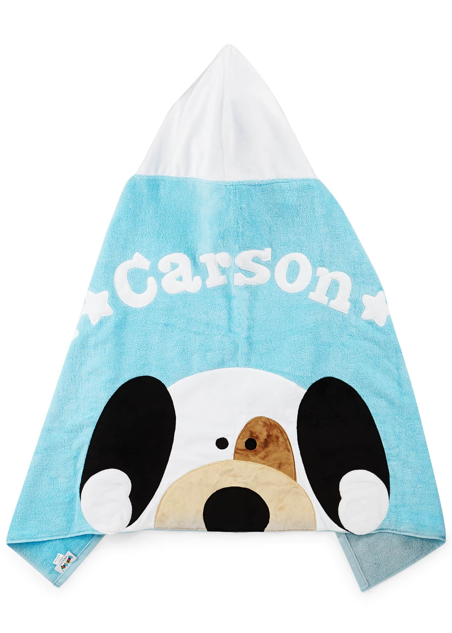 Image 2 of 2: Personalized Peek-a-Boo Puppy Hooded Towel, Blue