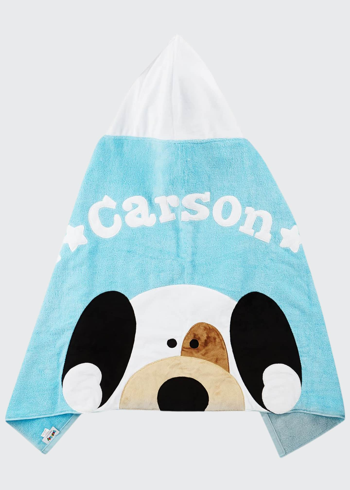 Image 1 of 2: Personalized Peek-a-Boo Puppy Hooded Towel, Blue