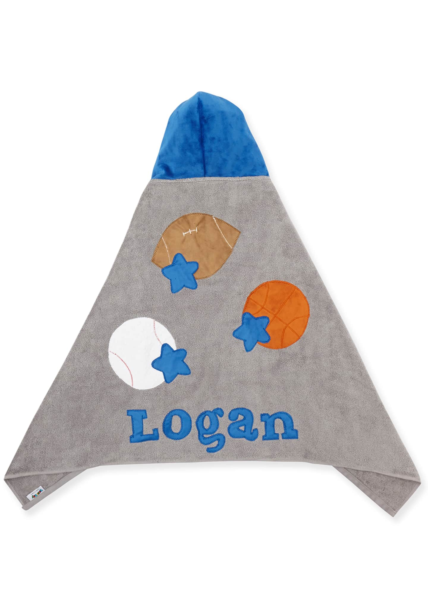 Image 2 of 2: Personalized Good Sport Hooded Towel, Gray/Blue