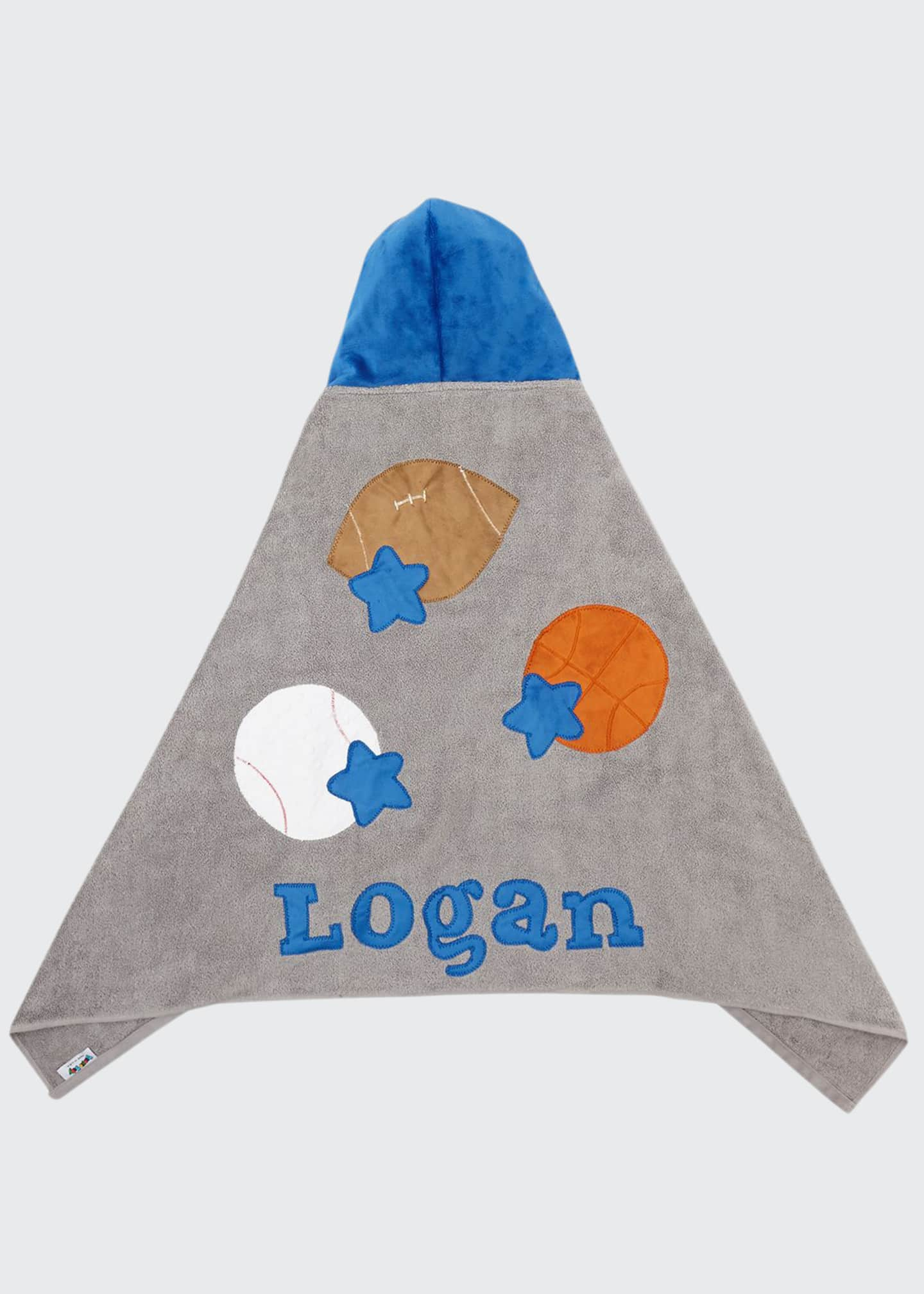 Image 1 of 2: Personalized Good Sport Hooded Towel, Gray/Blue