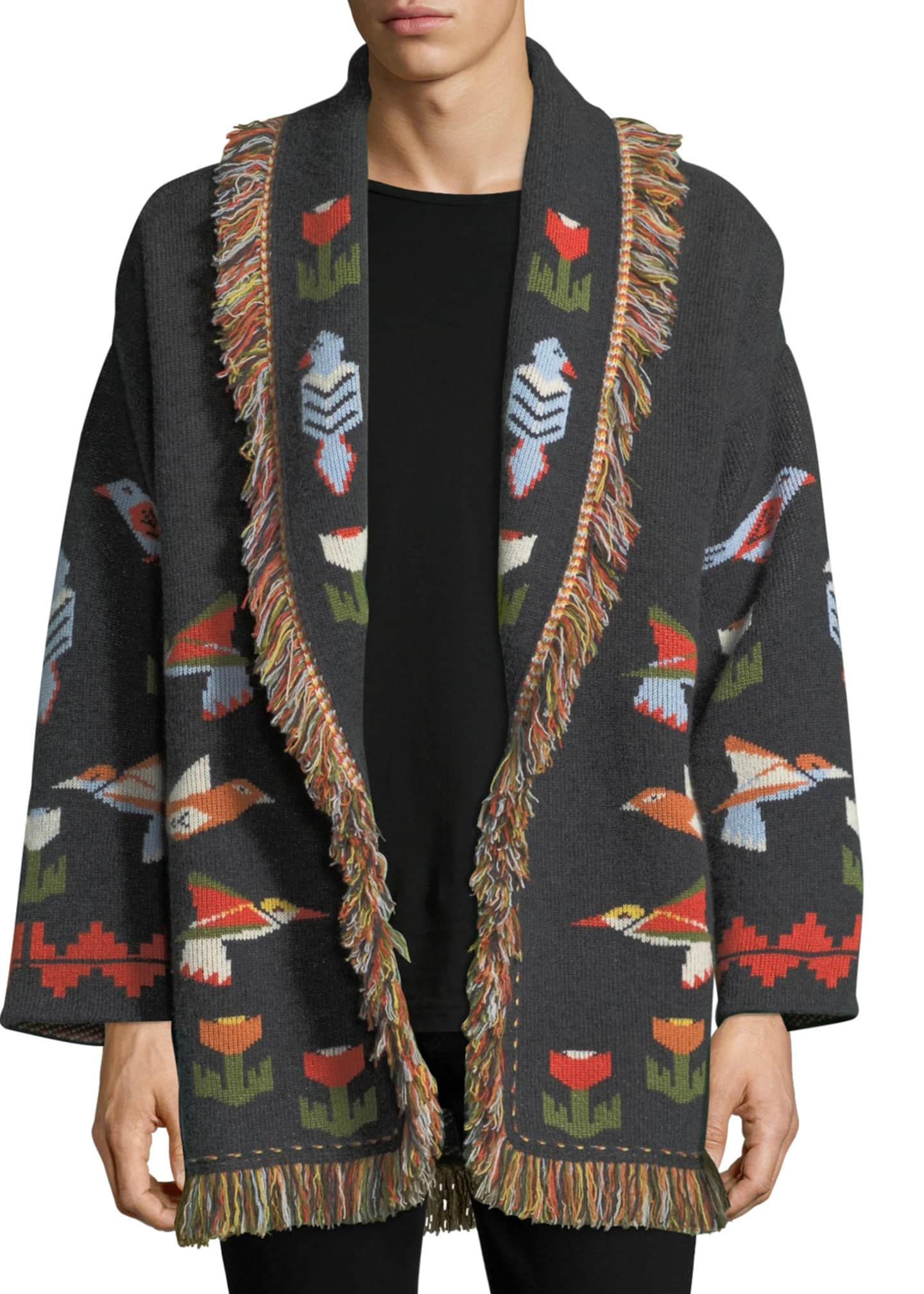 Alanui Tree of Life Cashmere Wrap Sweater