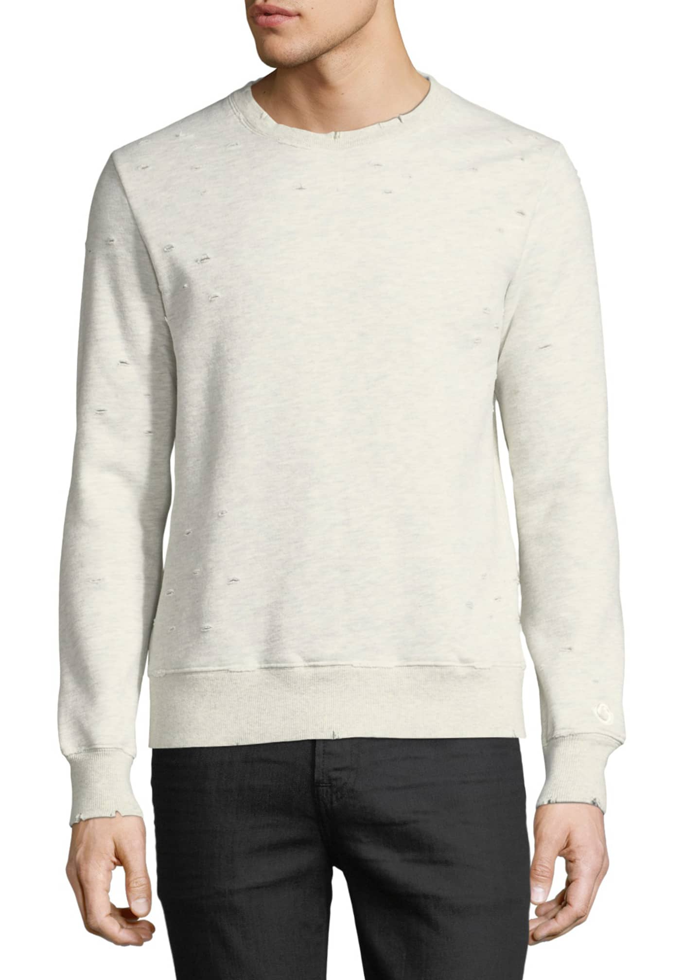 Image 3 of 3: Distressed Jersey Sweatshirt
