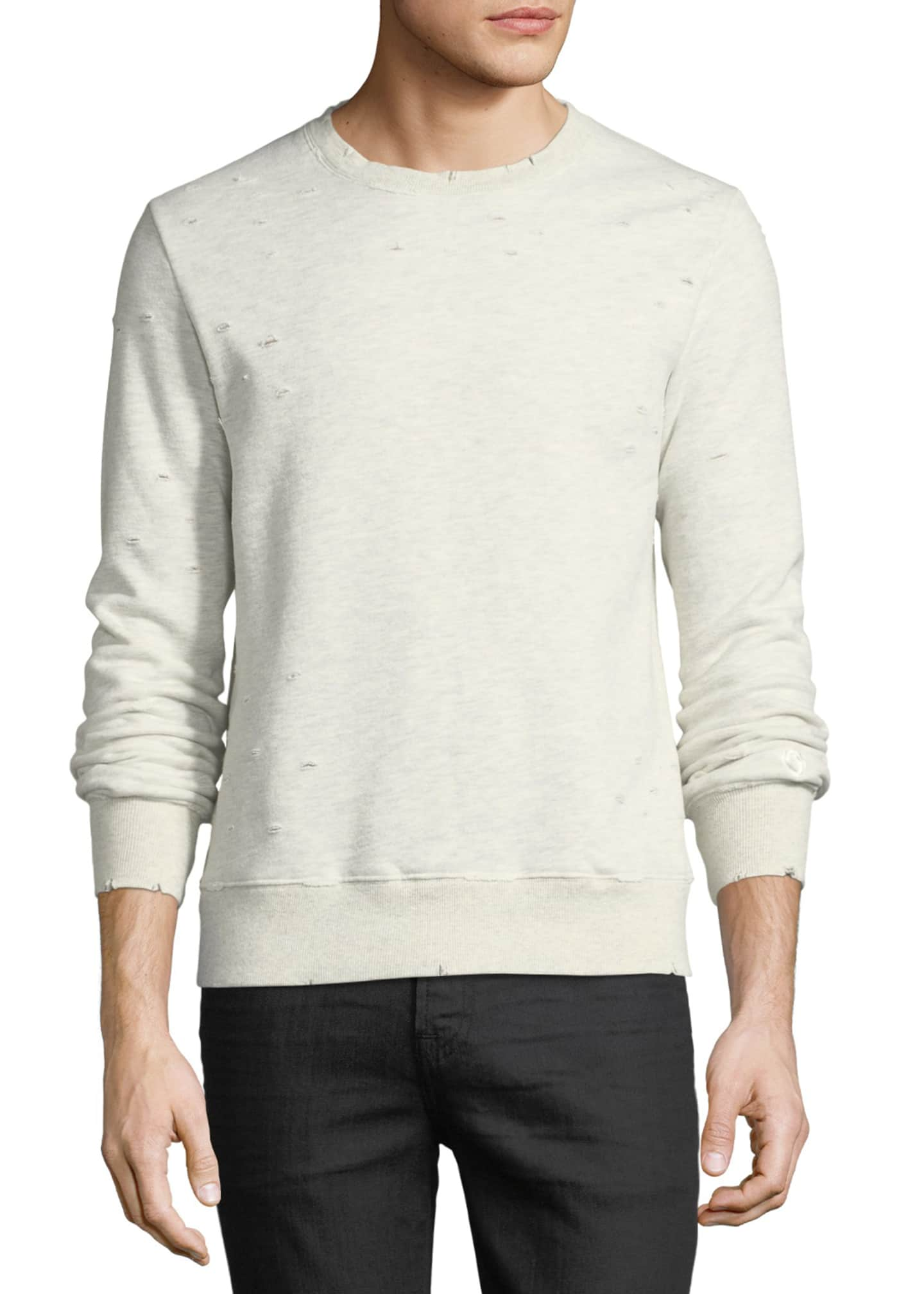 Image 1 of 3: Distressed Jersey Sweatshirt