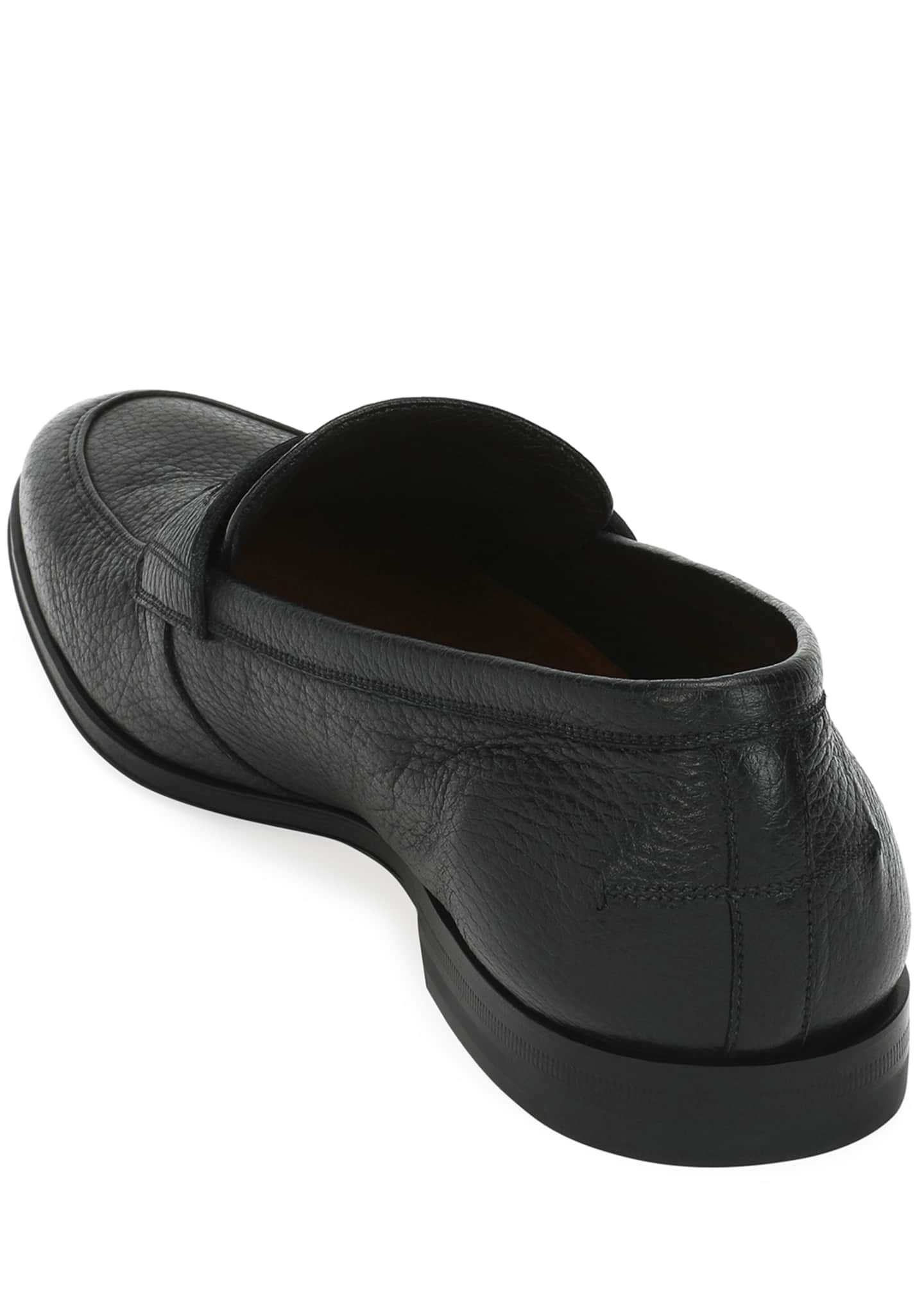 Image 3 of 3: Webb Leather Penny Loafer