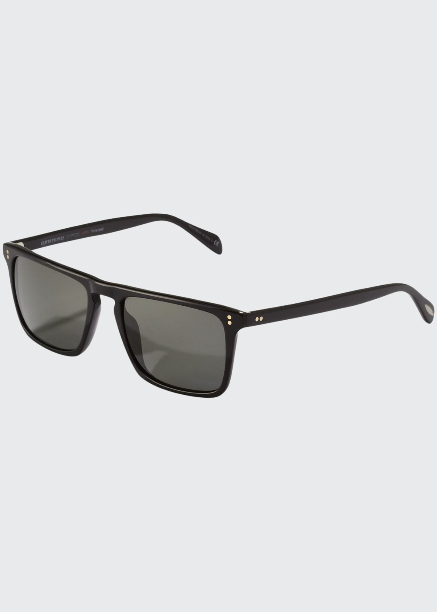 Oliver Peoples Bernardo Polarized Sunglasses, Black
