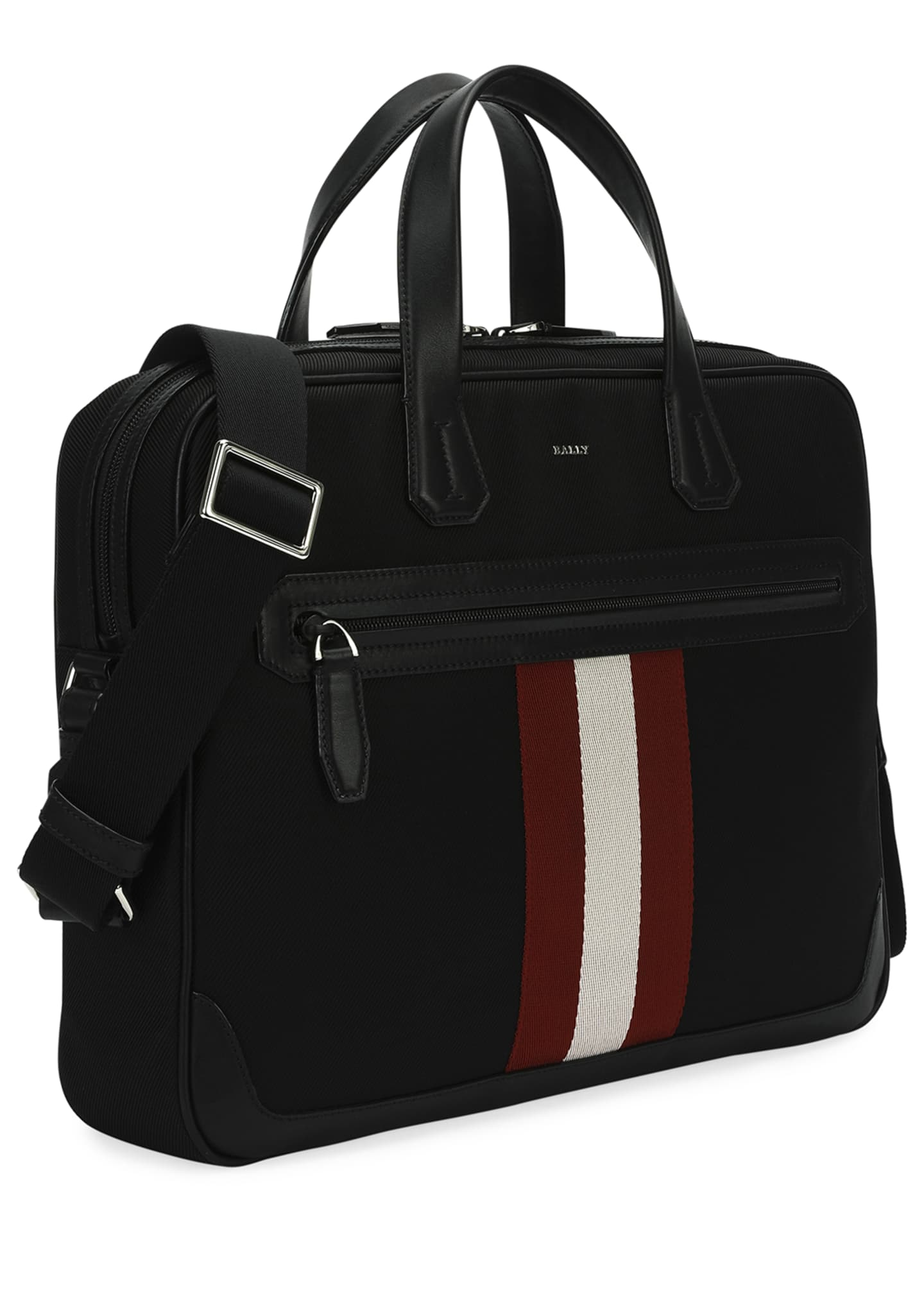 Image 2 of 4: Chandos Leather-Trim Briefcase