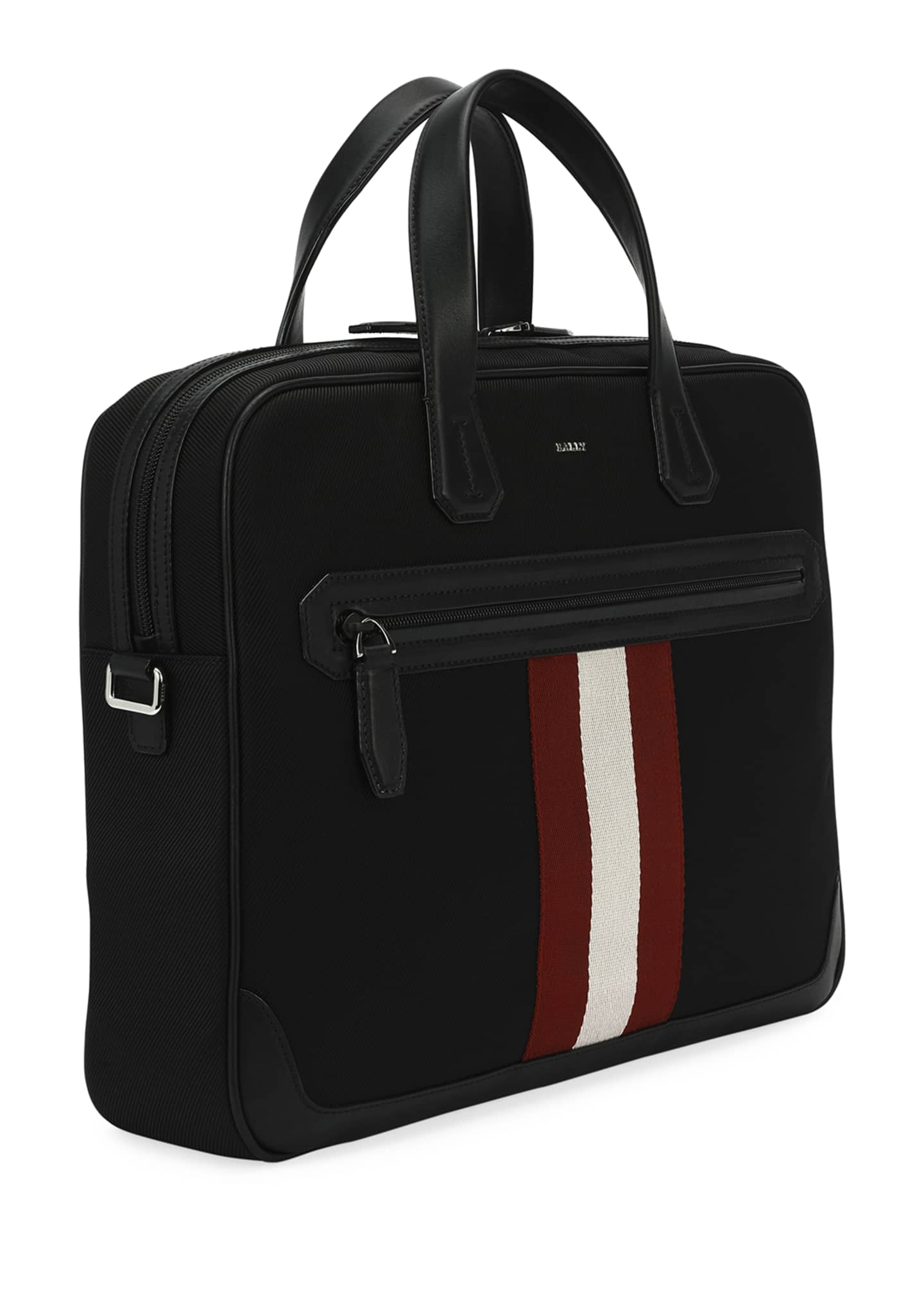 Image 3 of 4: Chandos Leather-Trim Briefcase