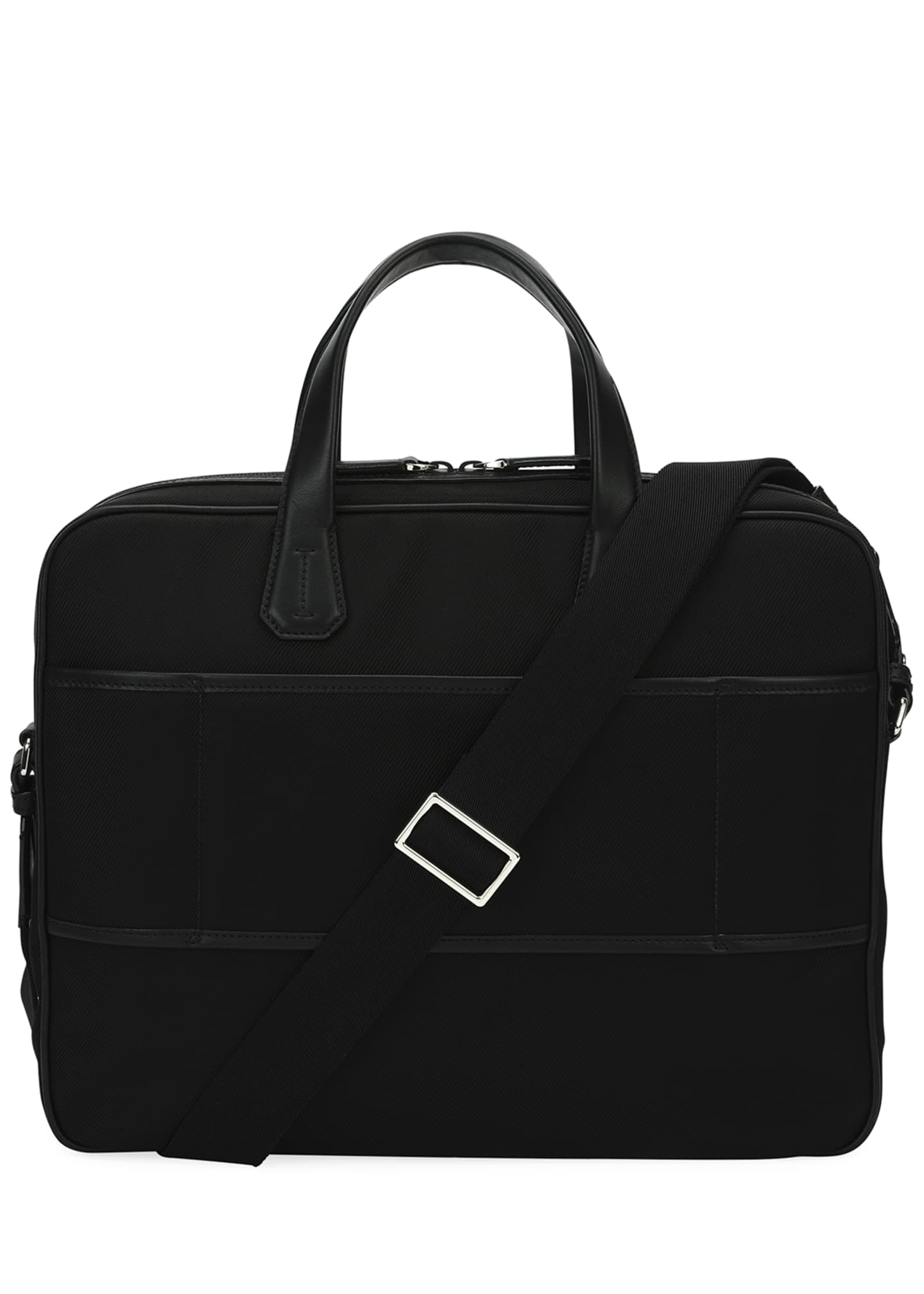 Image 4 of 4: Chandos Leather-Trim Briefcase