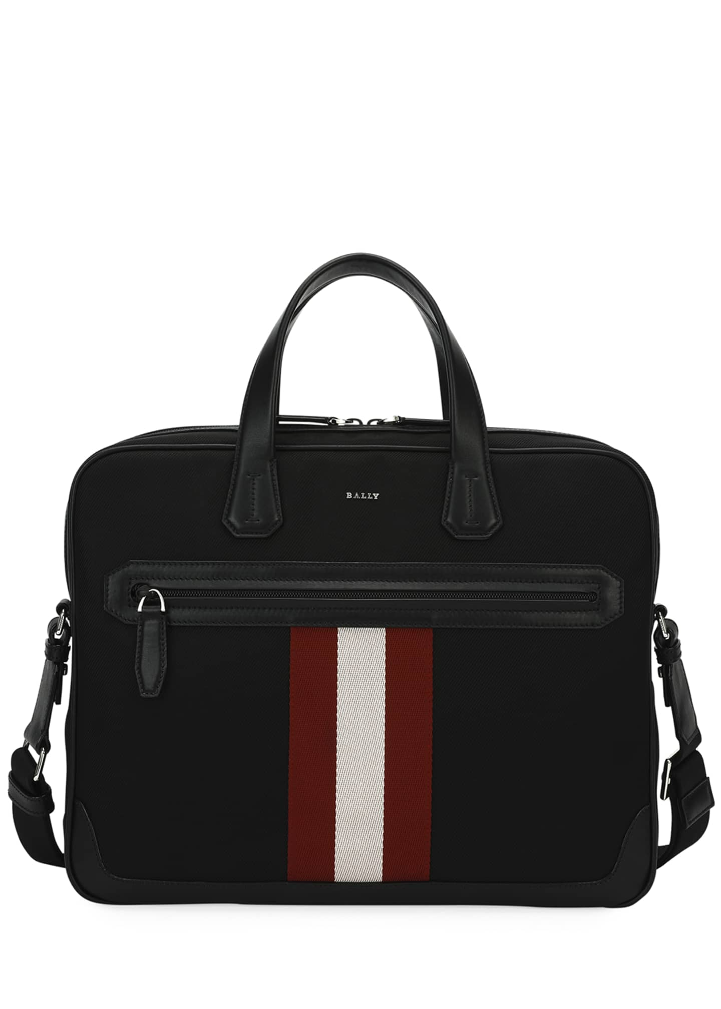 Image 1 of 4: Chandos Leather-Trim Briefcase