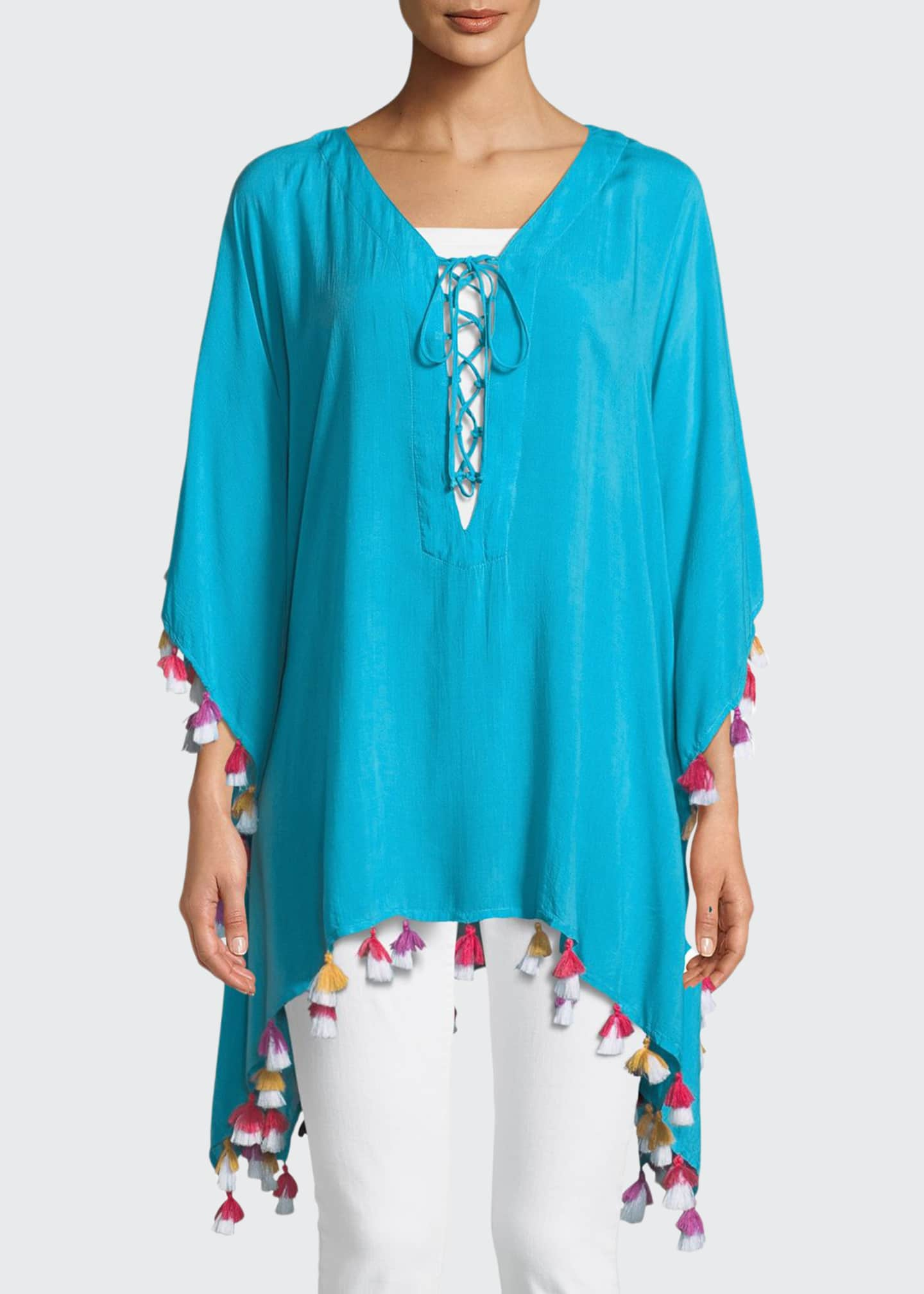 Bindya Lace-Up Tunic with Tassels