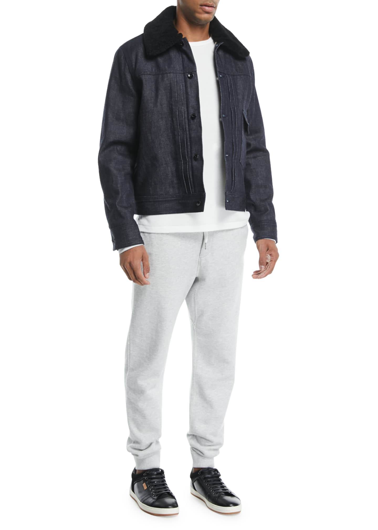 Image 3 of 3: Men's Classic Vintage Athletic-Inspired Sweatpants