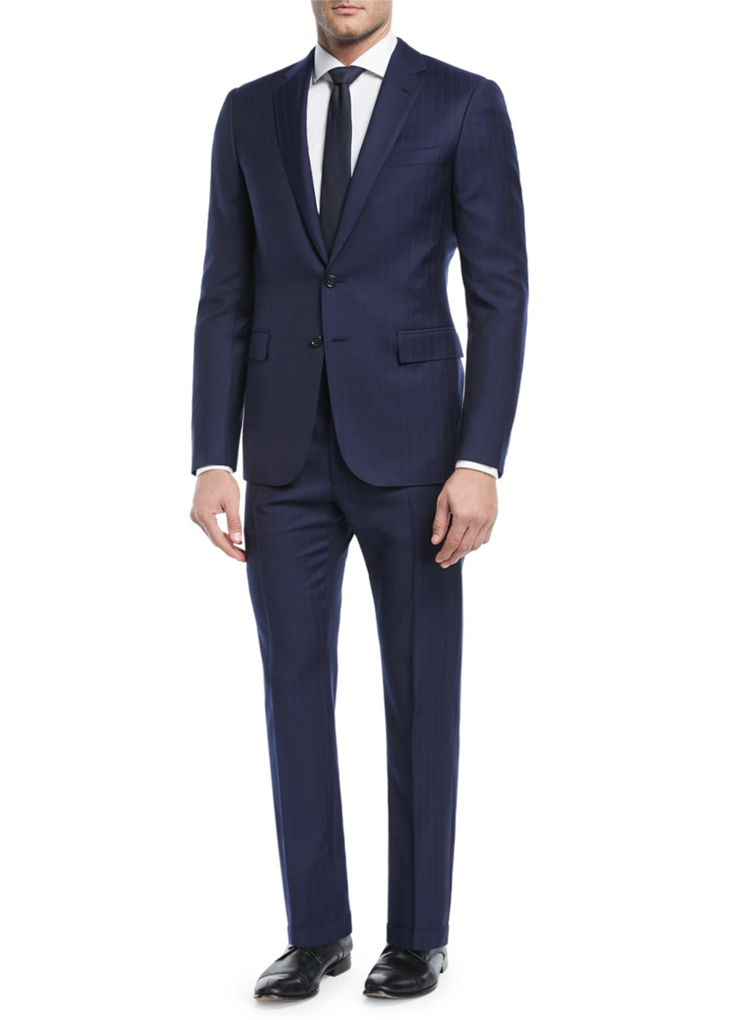 Ralph Lauren Railroad Striped Twill Two-Piece Suit