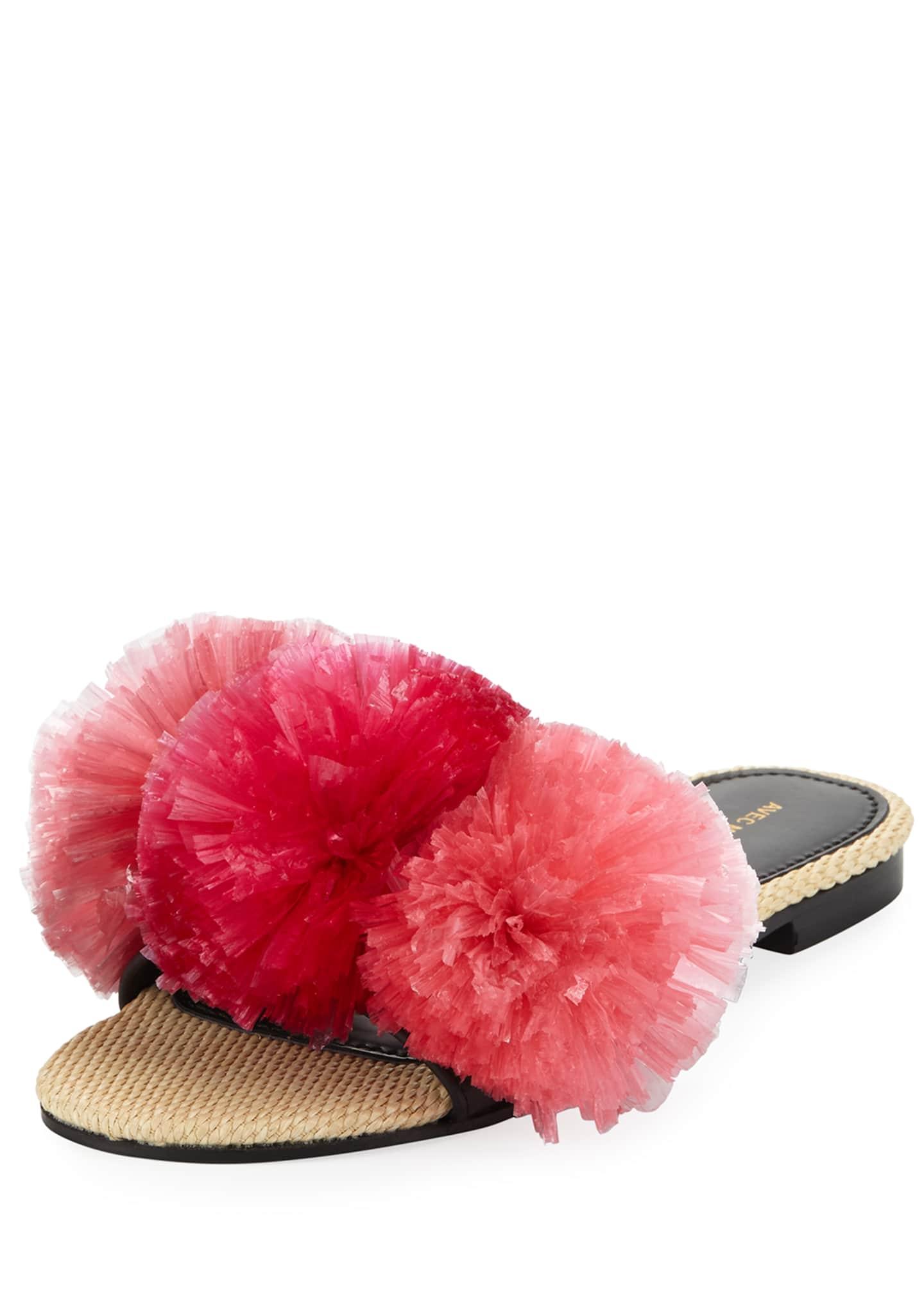 Avec Moderation Bora Bora Pompom Slipper Sandal