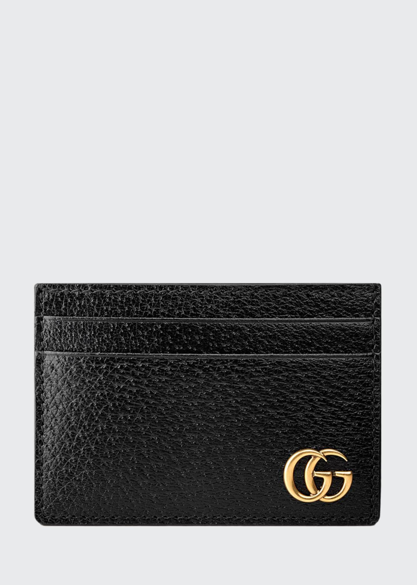 Gucci Men's Leather Credit Card Case with Money