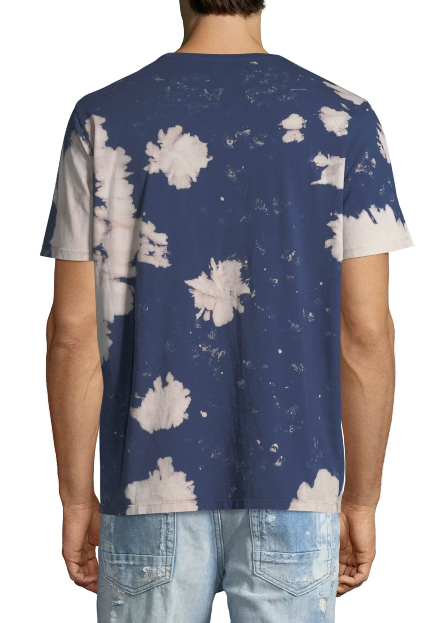 Image 2 of 2: Tie Dye Denim Geek Tee, Navy