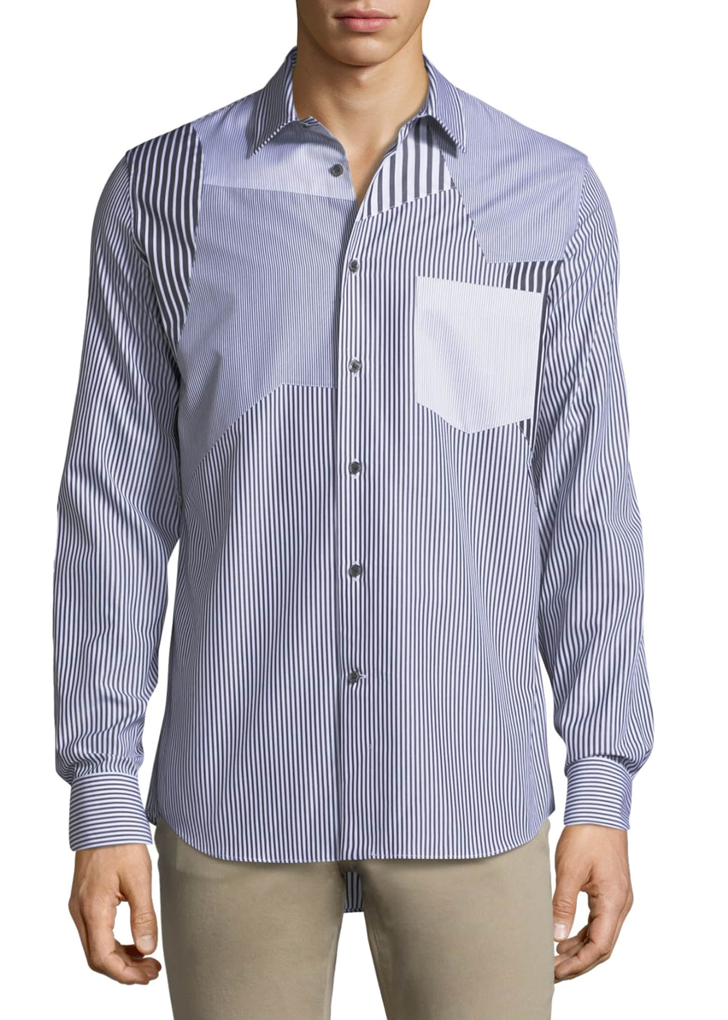 Alexander McQueen Patched Cotton Sport Shirt