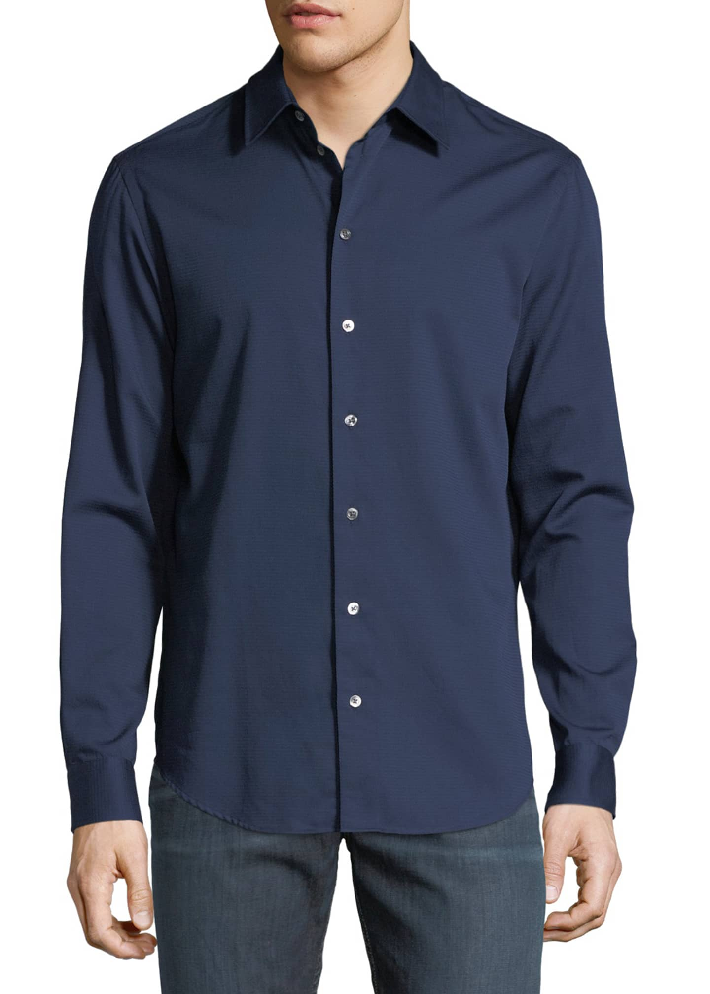 Emporio Armani Basic Woven Cotton Sport Shirt