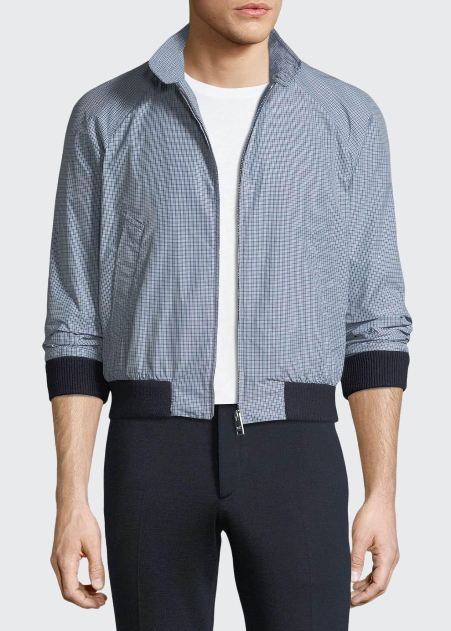 Prada Mini Check Zip-Front Jacket