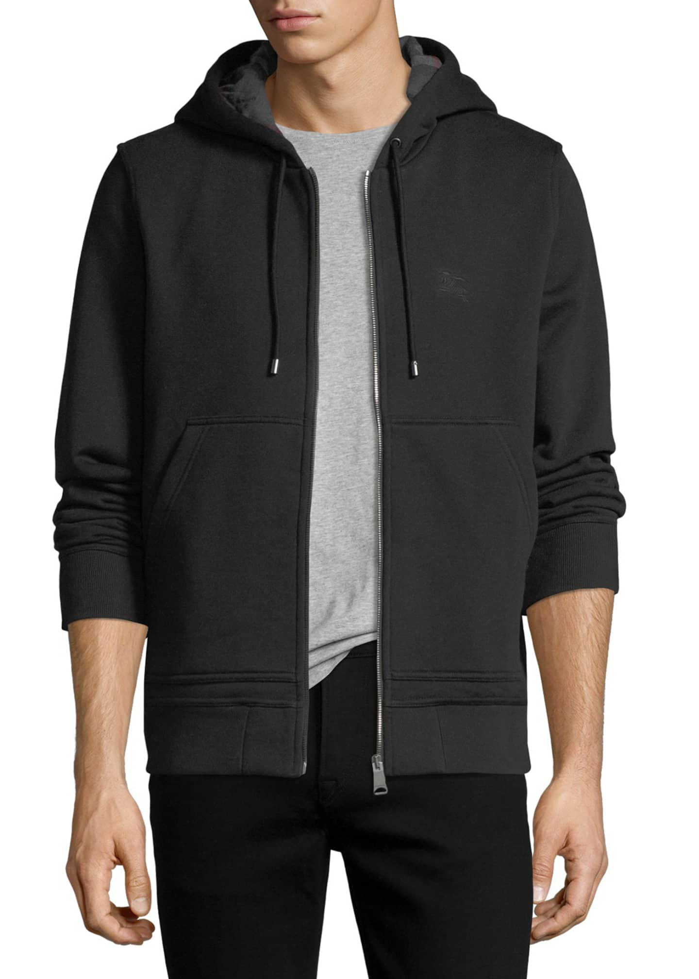 Burberry Fordson Zip-Front Hoodie
