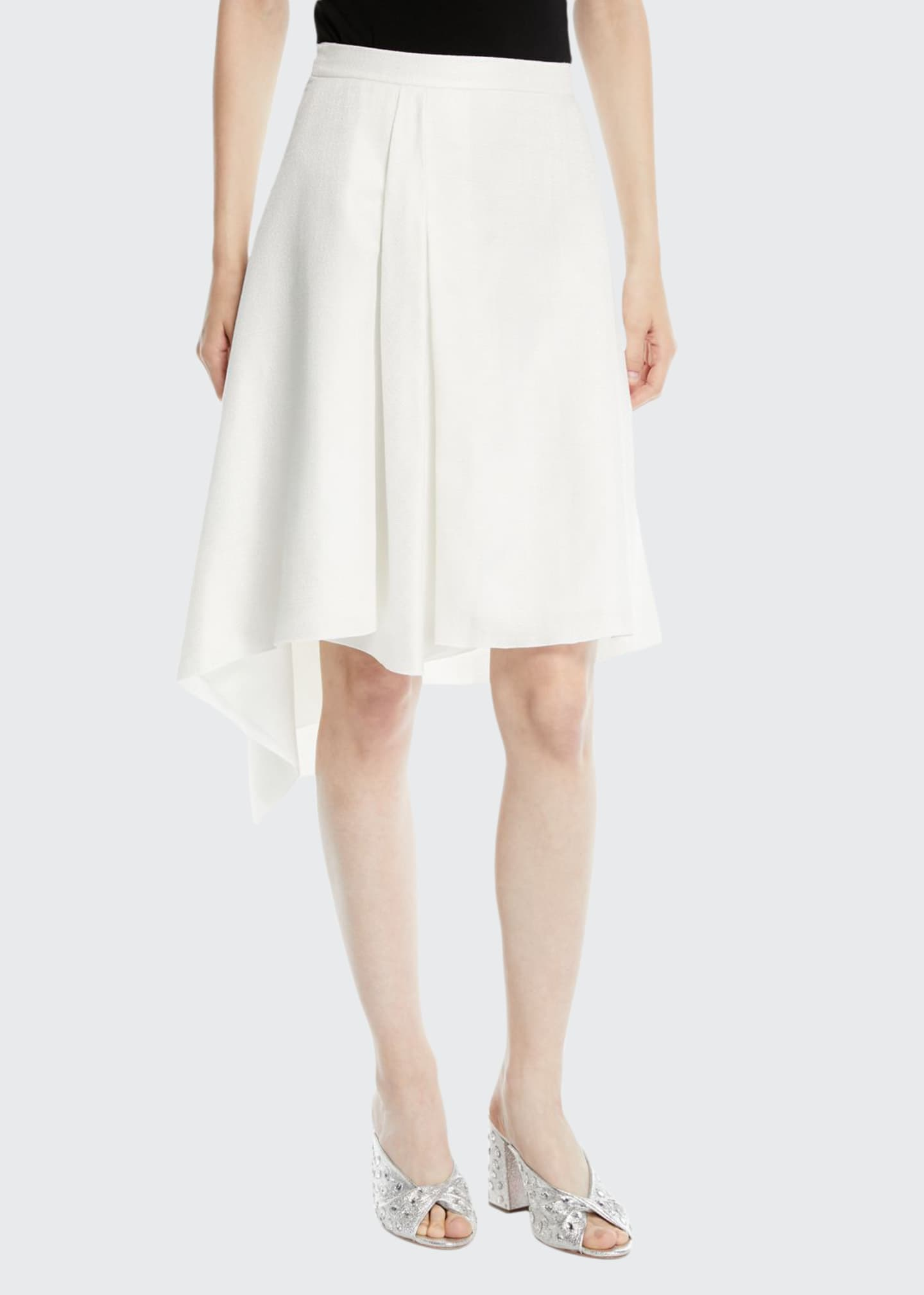 Delpozo A-Line Asymmetric Midi Skirt