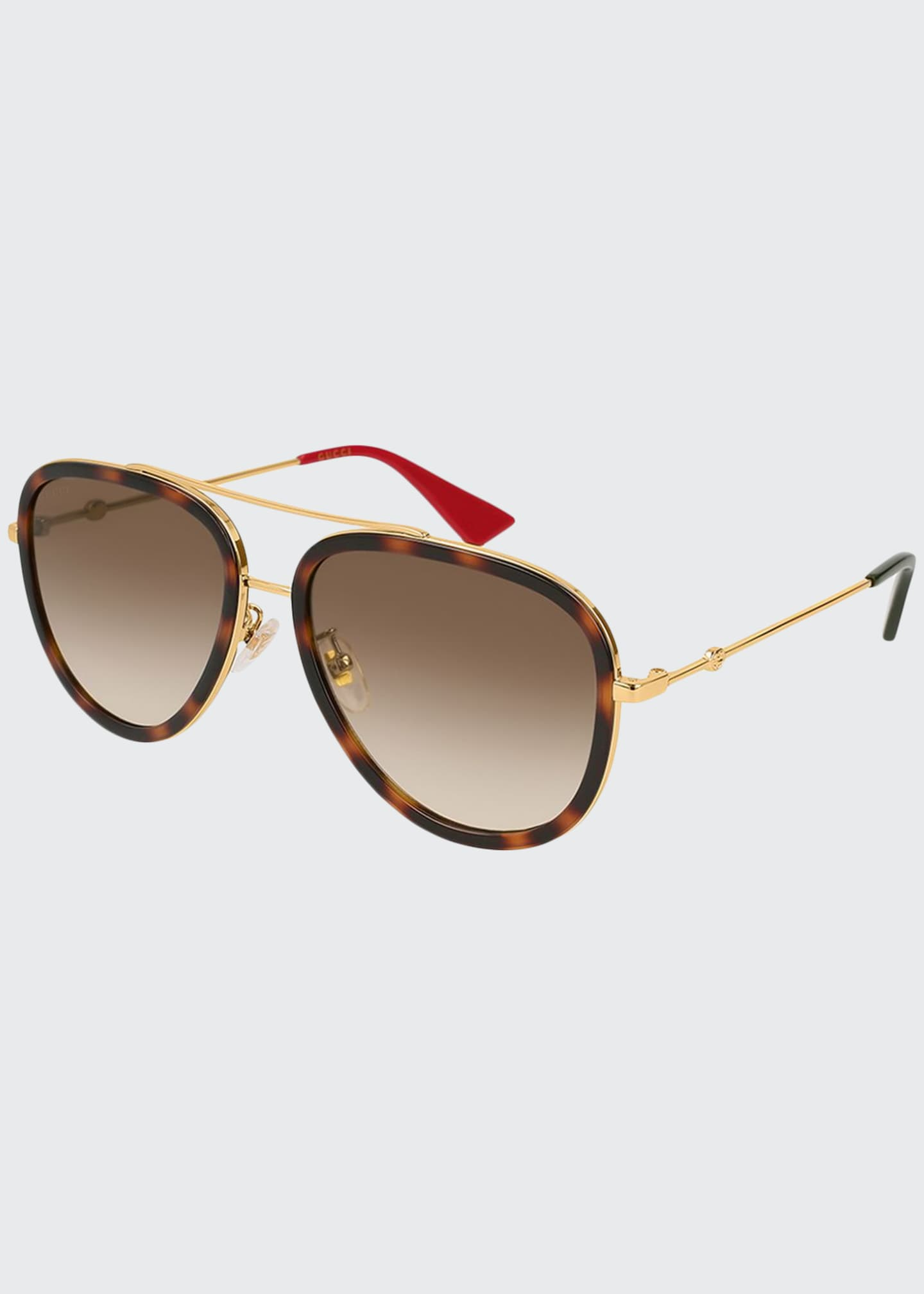 Gucci Metal Gradient Aviator Sunglasses
