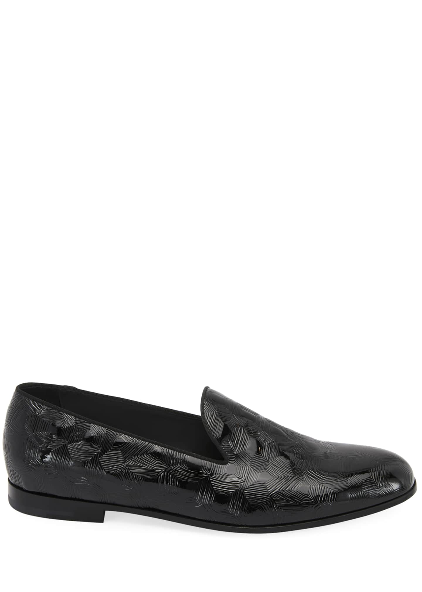 Image 2 of 3: Textured Patent Leather Slip-On Loafer