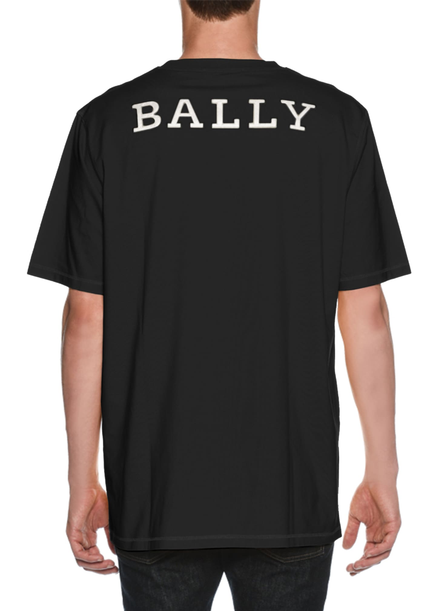 Bally Oversized Logo-Back T-Shirt, Black
