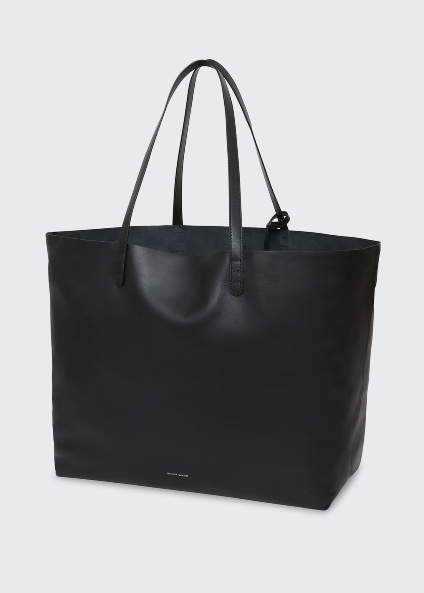Image 2 of 5: Oversized Lamb Leather Tote Bag