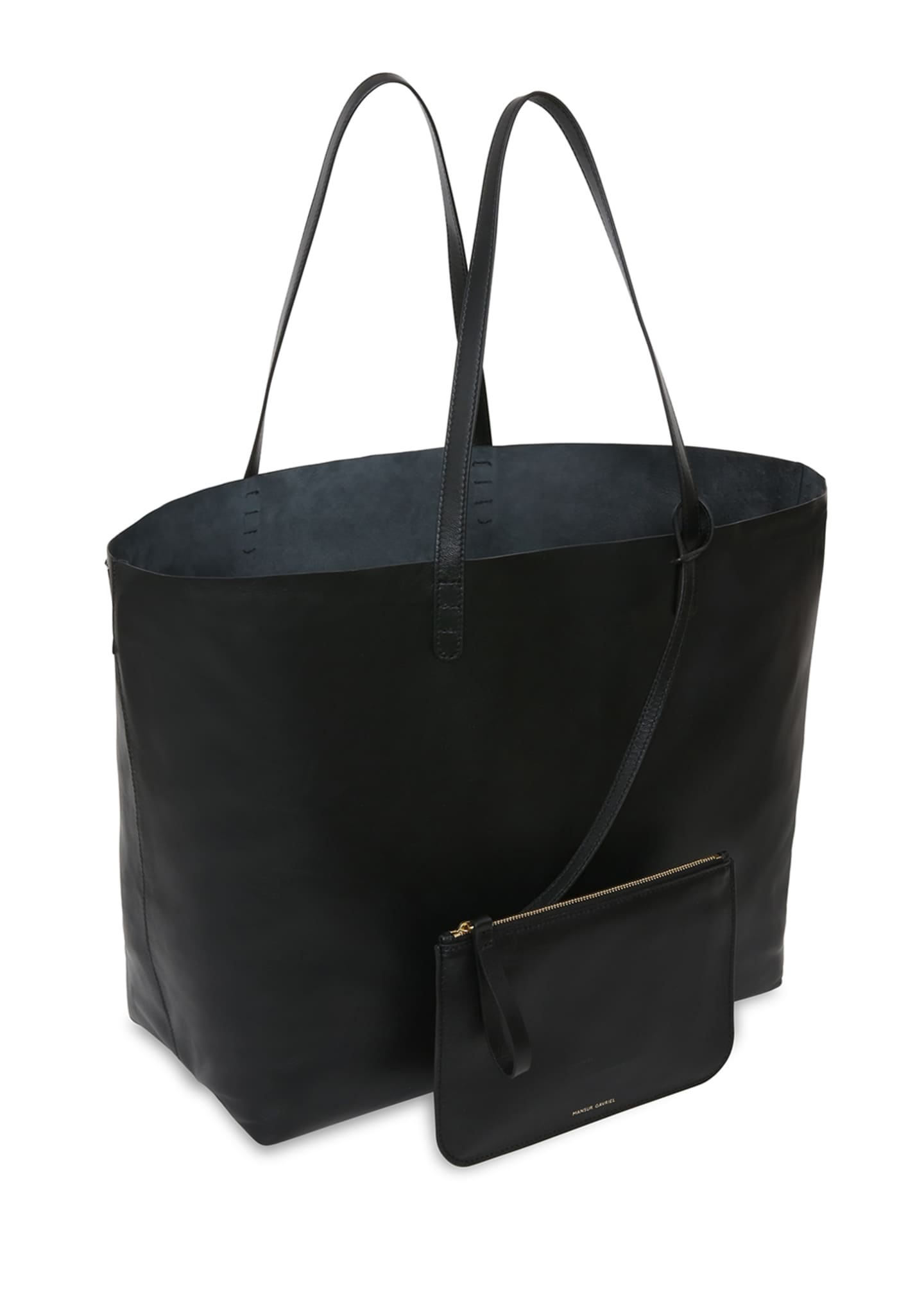 Image 3 of 5: Oversized Lamb Leather Tote Bag