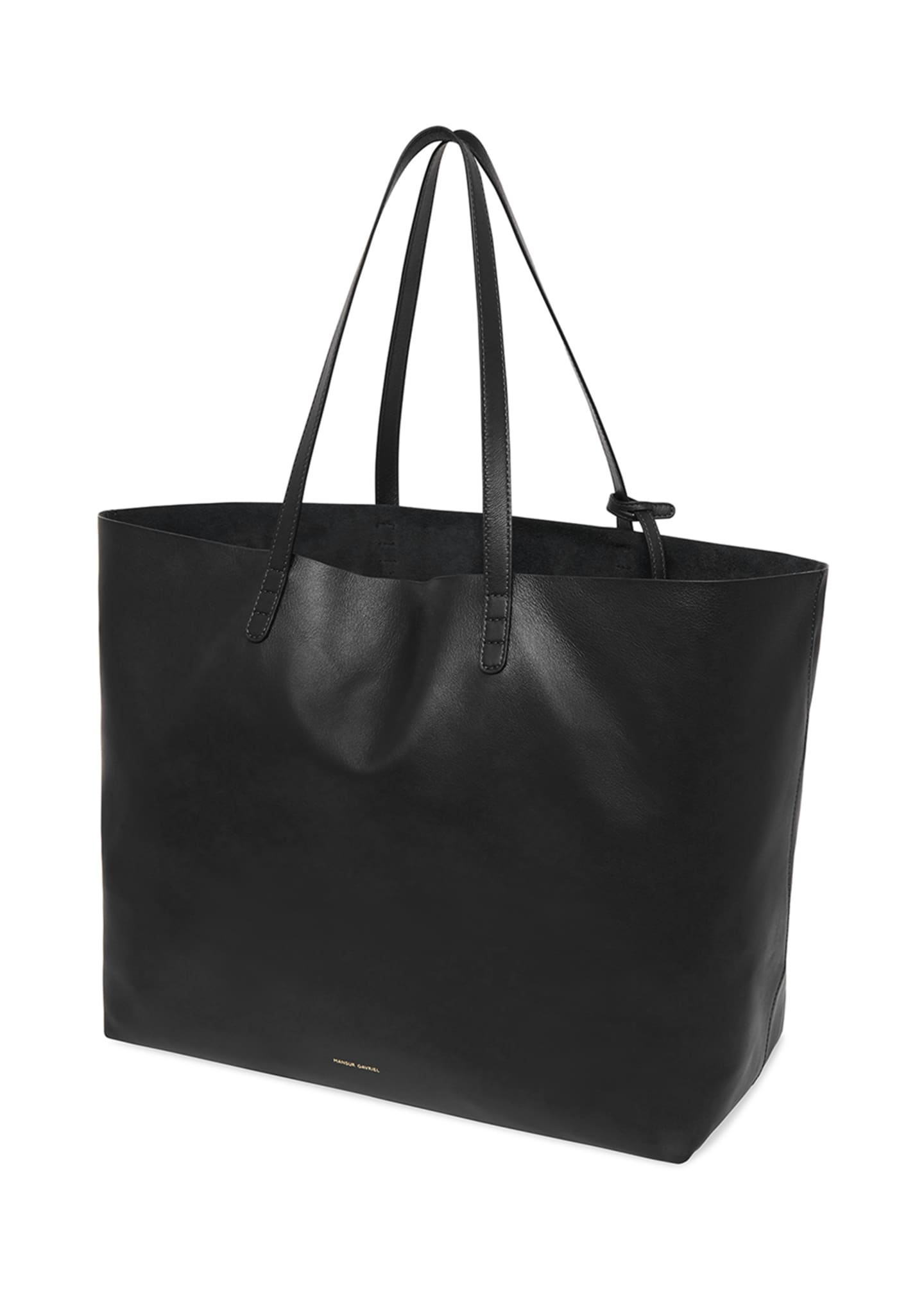 Image 4 of 5: Oversized Lamb Leather Tote Bag