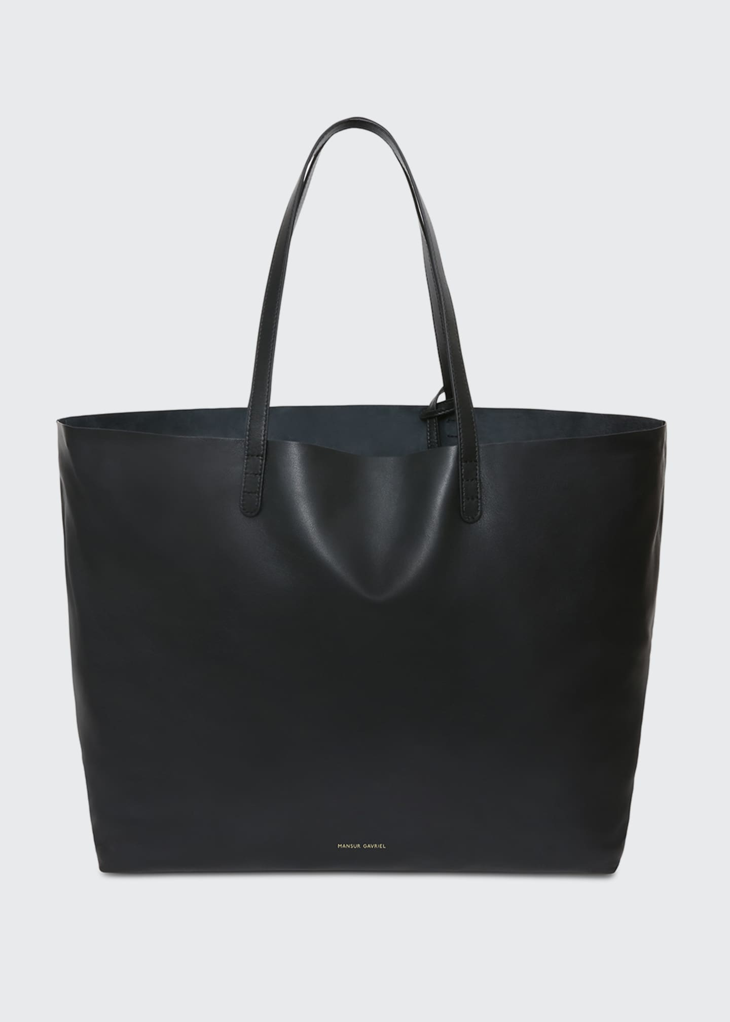 Image 1 of 5: Oversized Lamb Leather Tote Bag