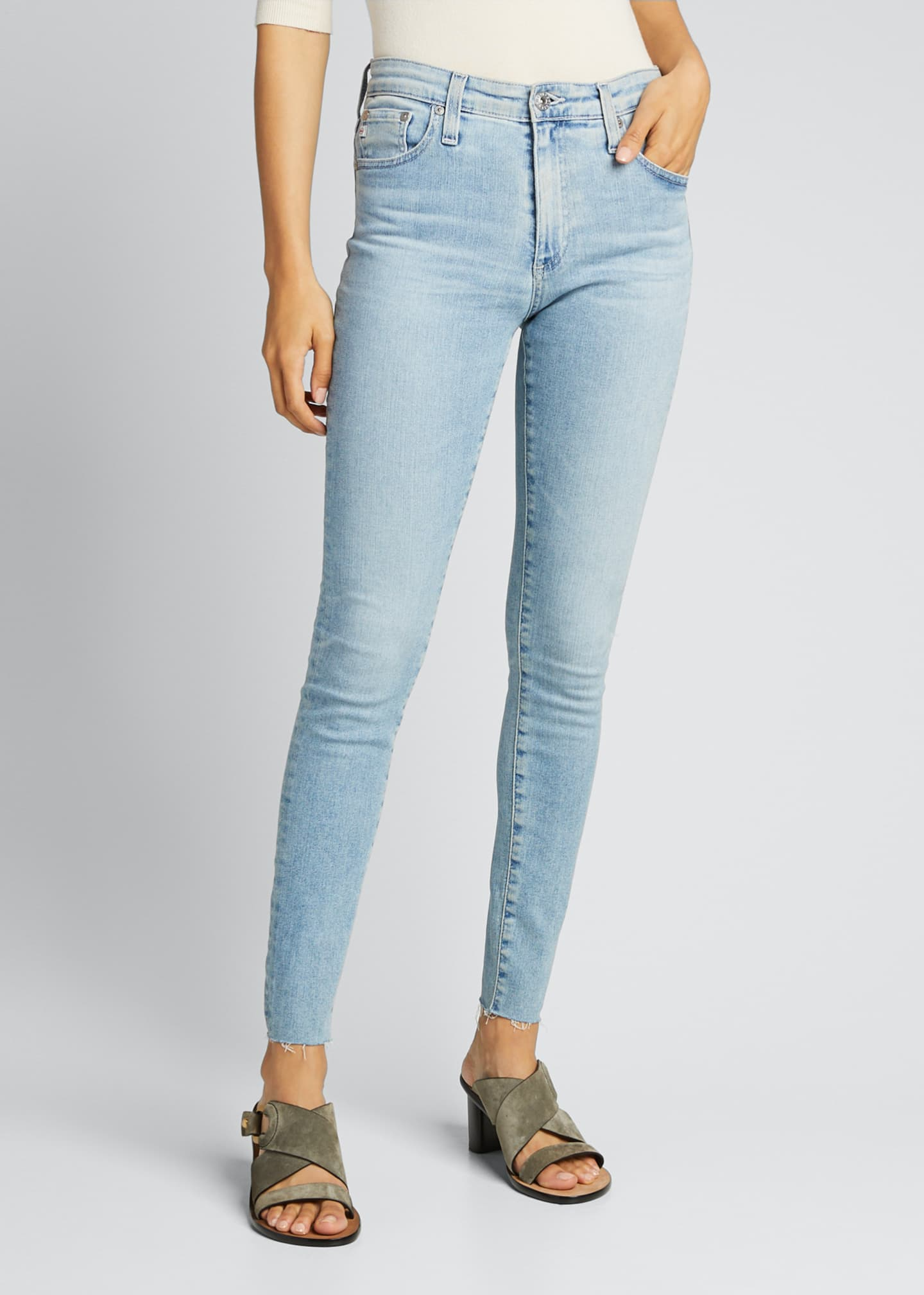 Image 3 of 5: The Farrah High-Rise Skinny Ankle Jeans